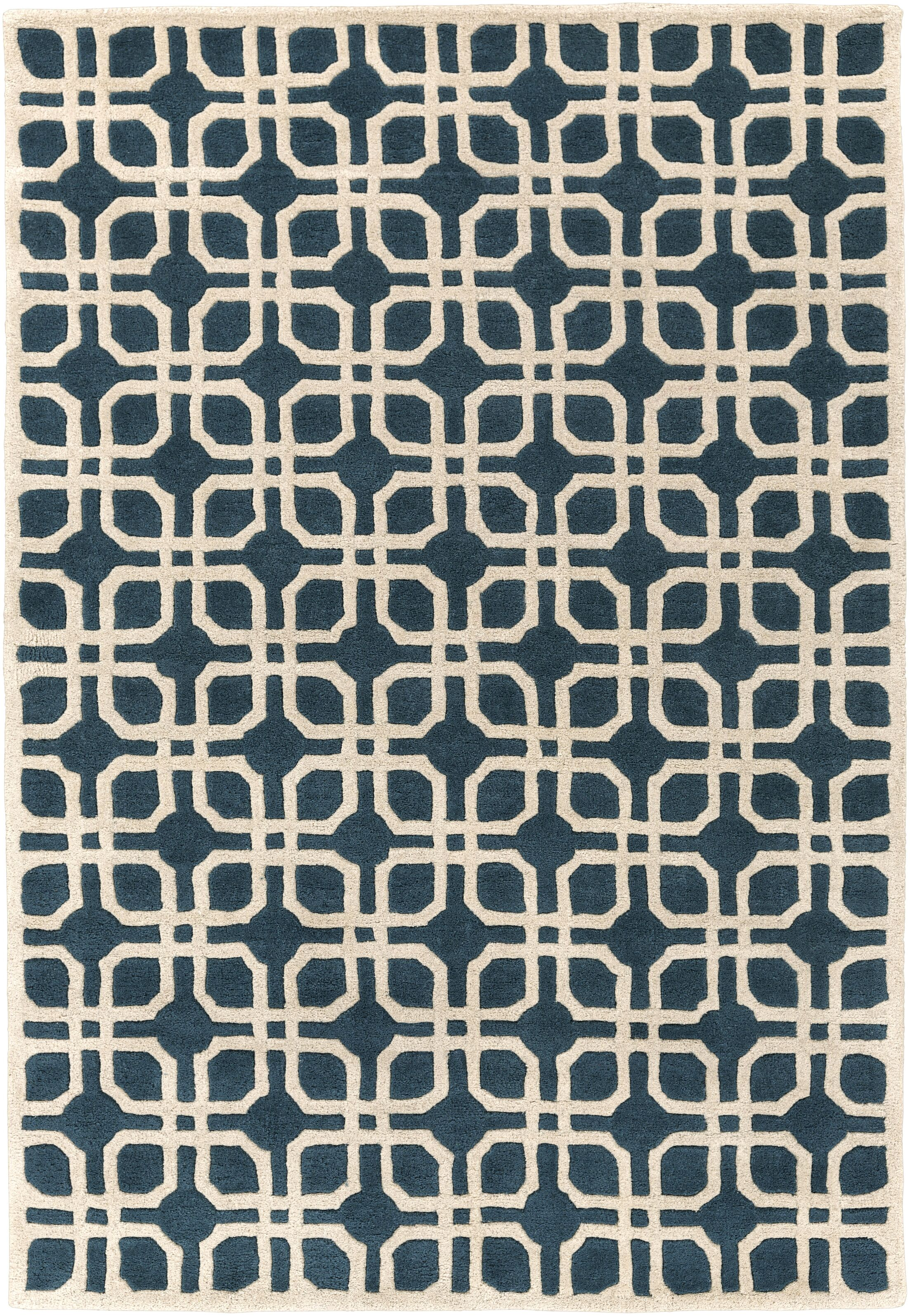 Murrah Blue/Ivory Area Rug Rug Size: Rectangle 8' x 11'