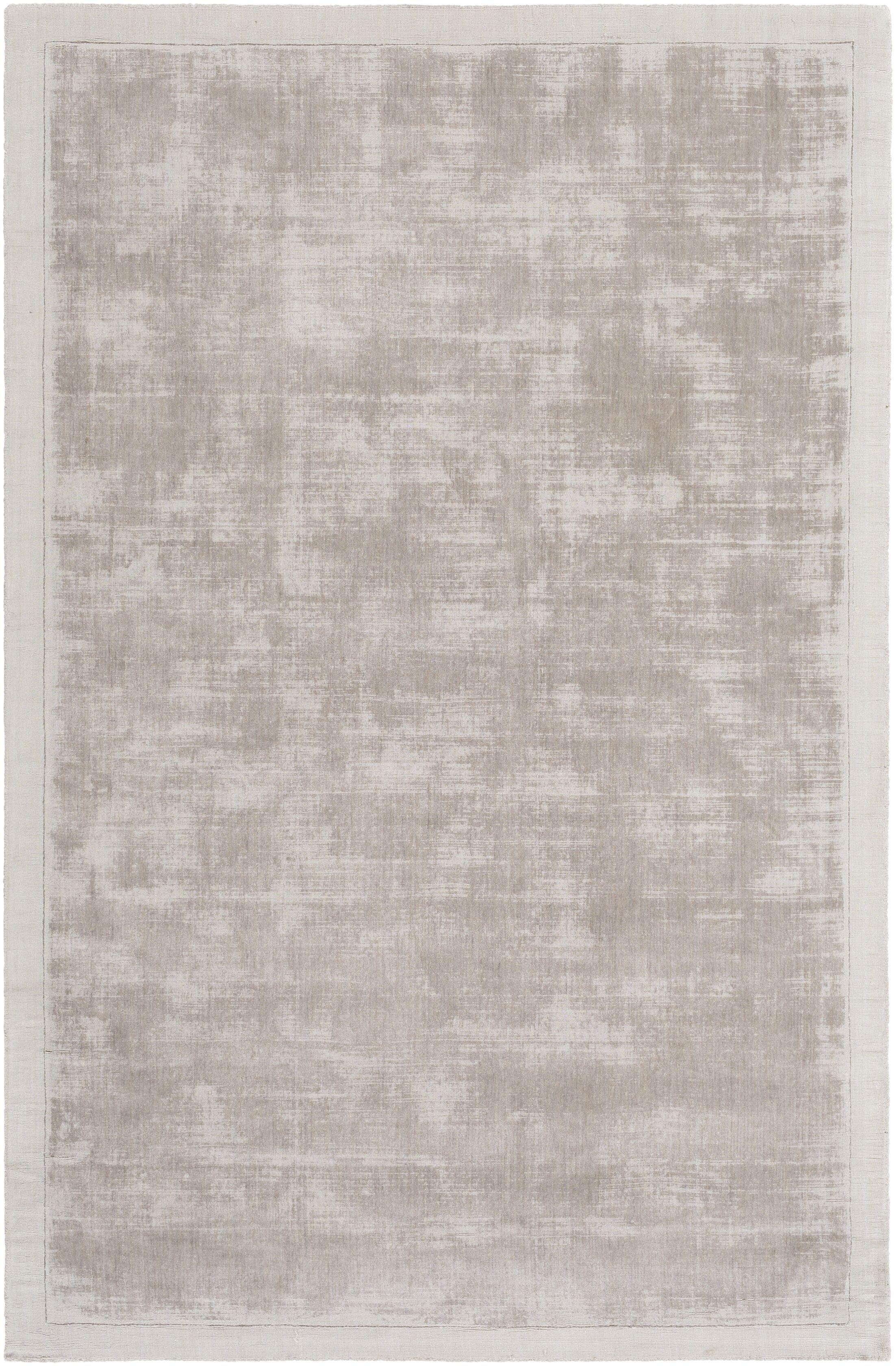 Natalie Hand-Loomed Gray Area Rug Rug Size: Rectangle 4' x 6'