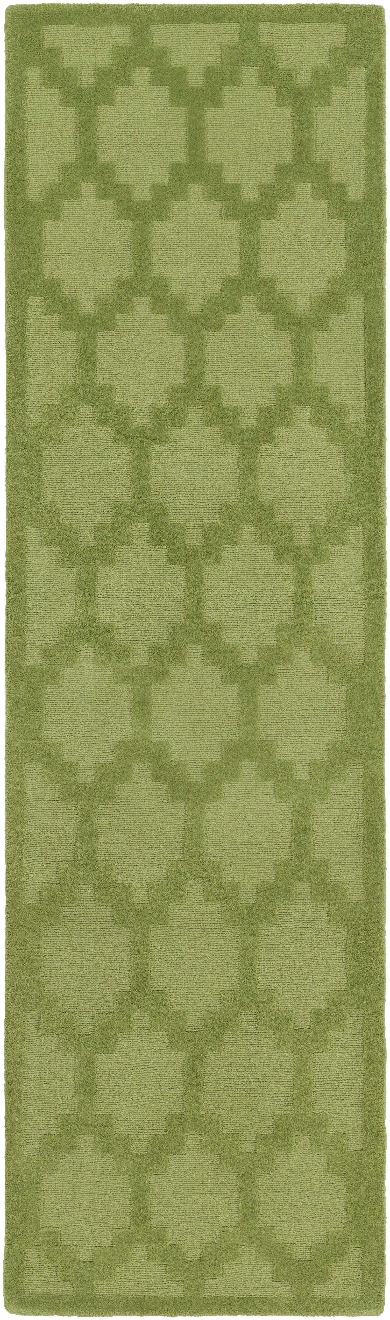 Bracey Hand-Loomed Green Area Rug Rug Size: Runner 2'3