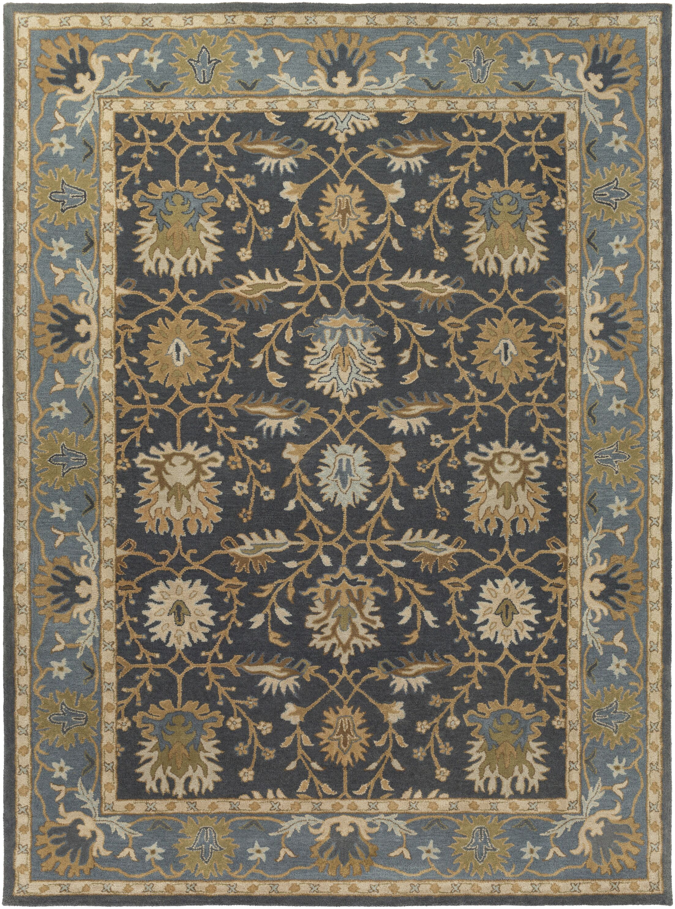 Dyer Avenue Hand Woven Wool Denim Area Rug Rug Size: Runner 2'3