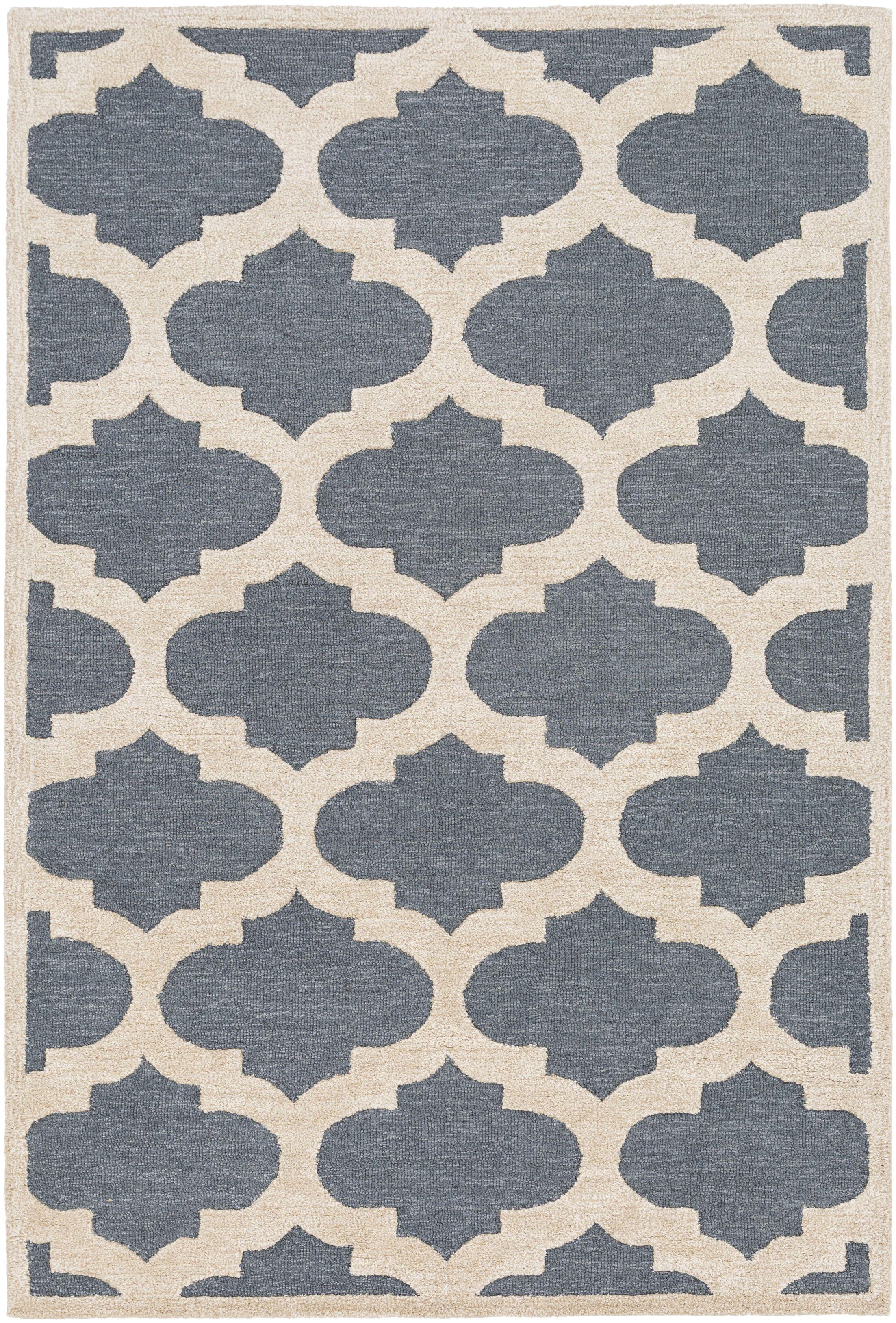 Boise Hand-Tufted Blue Area Rug Rug Size: Rectangle 5' x 7'6