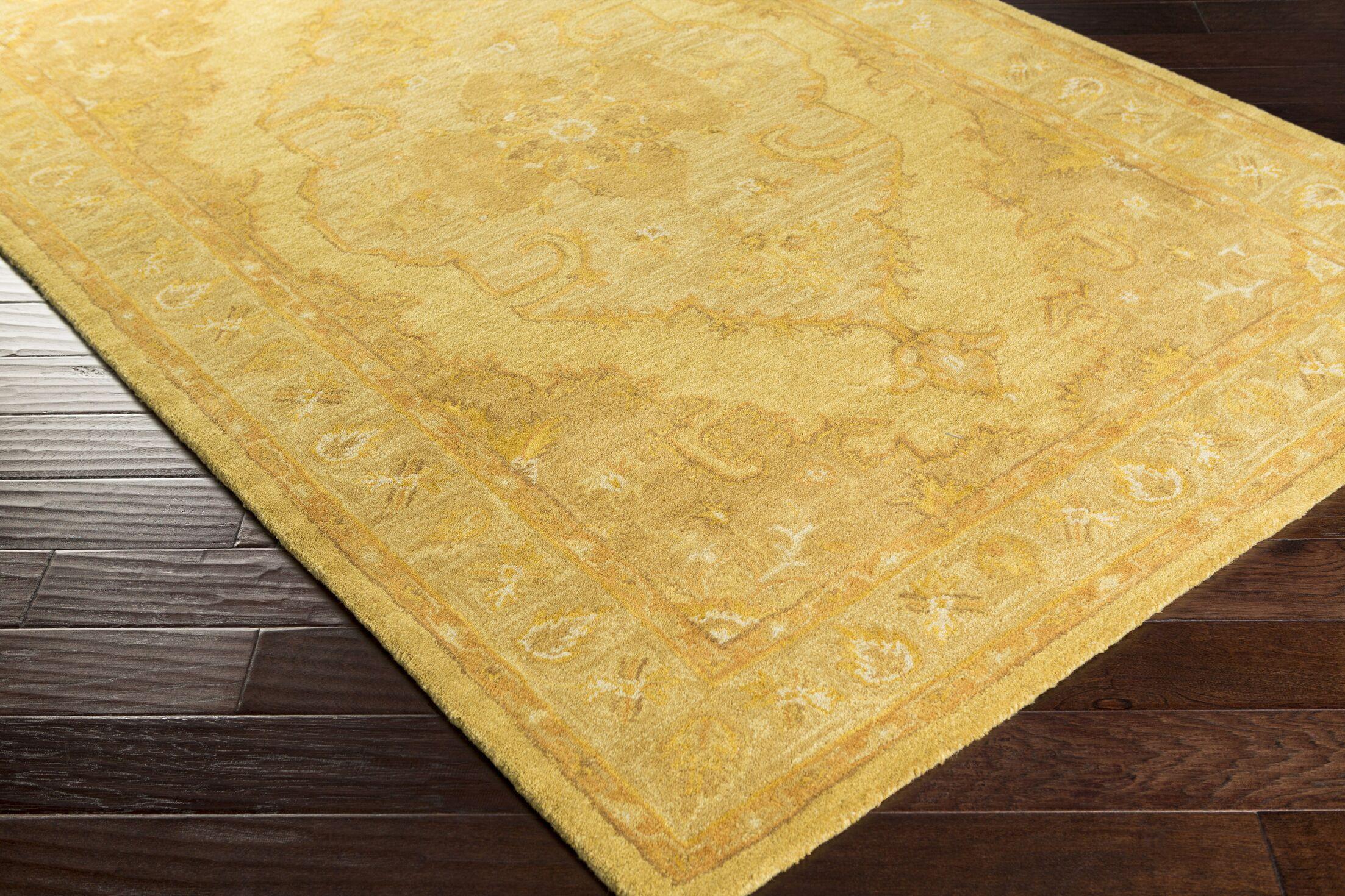 Eaddy Hand-Tufted Sunflower/Gold Area Rug Rug Size: Rectangle 6' x 9'