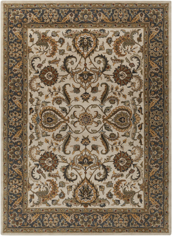 Dvorak Ivory/Charcoal Area Rug Rug Size: Rectangle 8' x 11'