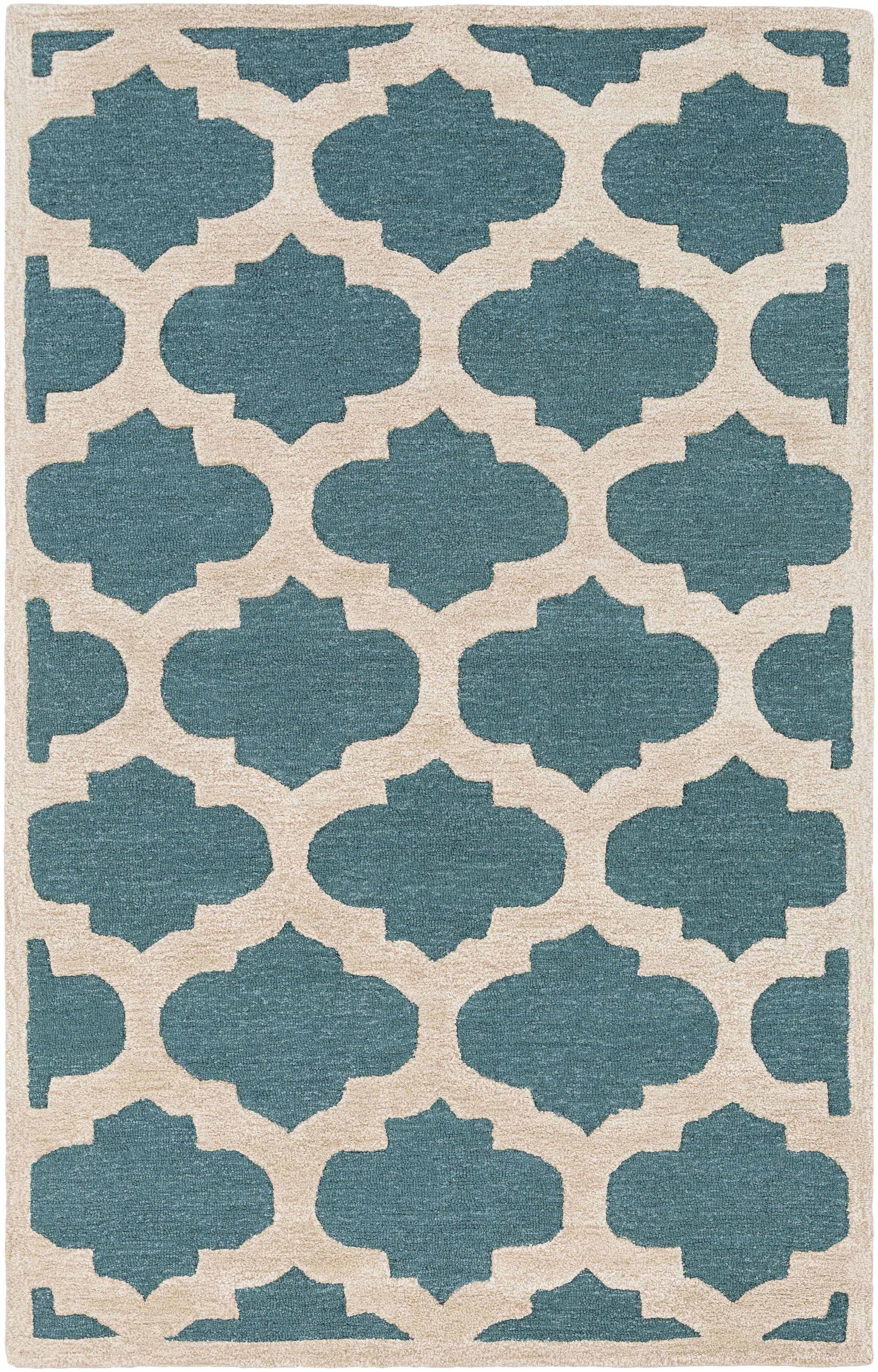 Boise Hand-Tufted Teal Area Rug Rug Size: Runner 2'3