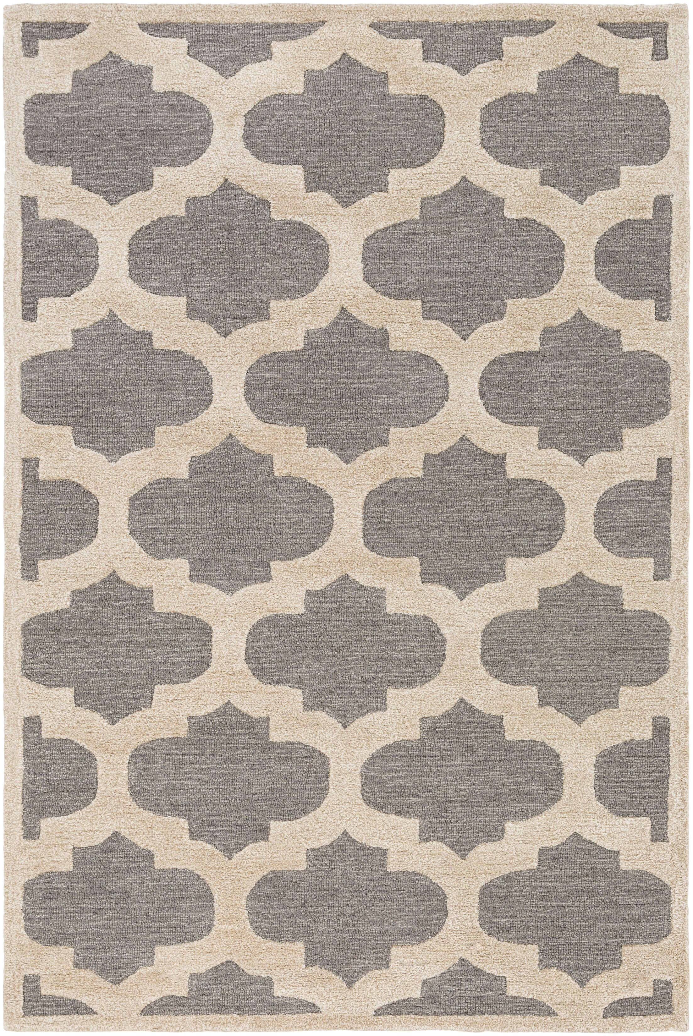Boise Hand-Tufted Gray Area Rug Rug Size: Rectangle 5' x 7'6