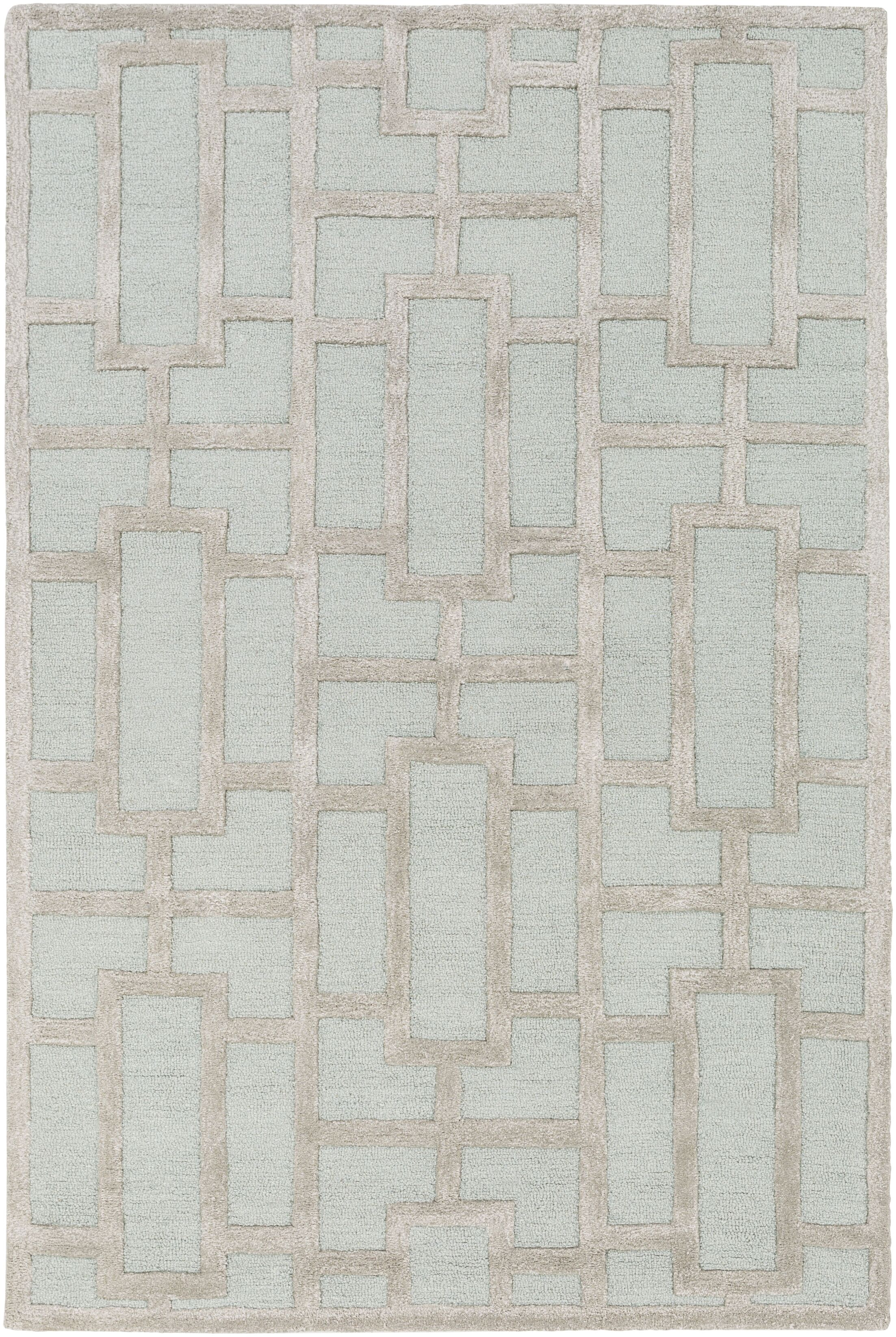 Perpetua Hand-Tufted Light Blue Area Rug Rug Size: Rectangle 6' x 9'