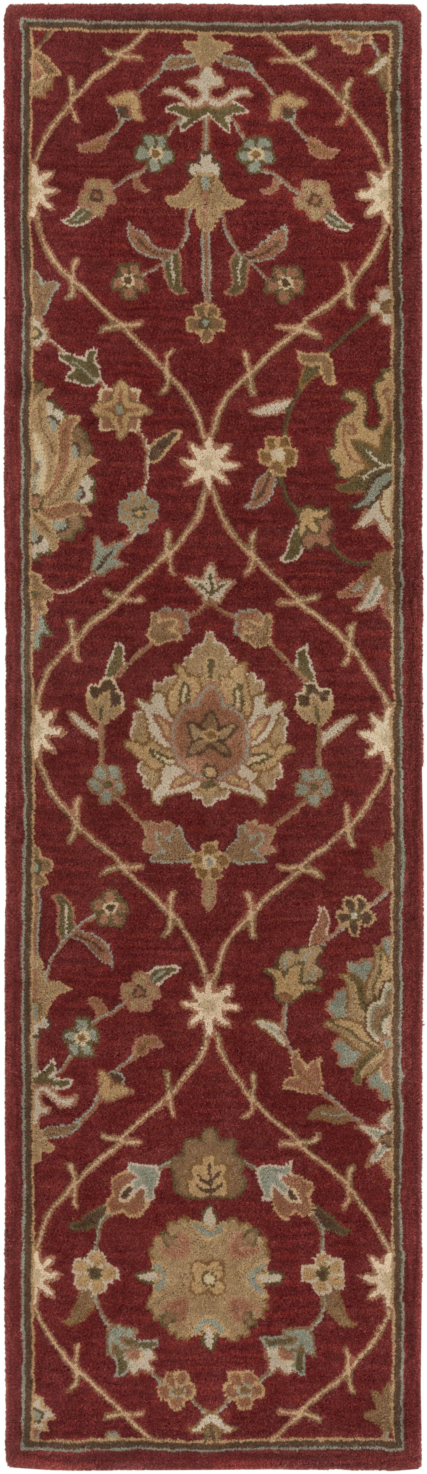 Phinney Hand-Tufted Red Area Rug Rug Size: Runner 2'3