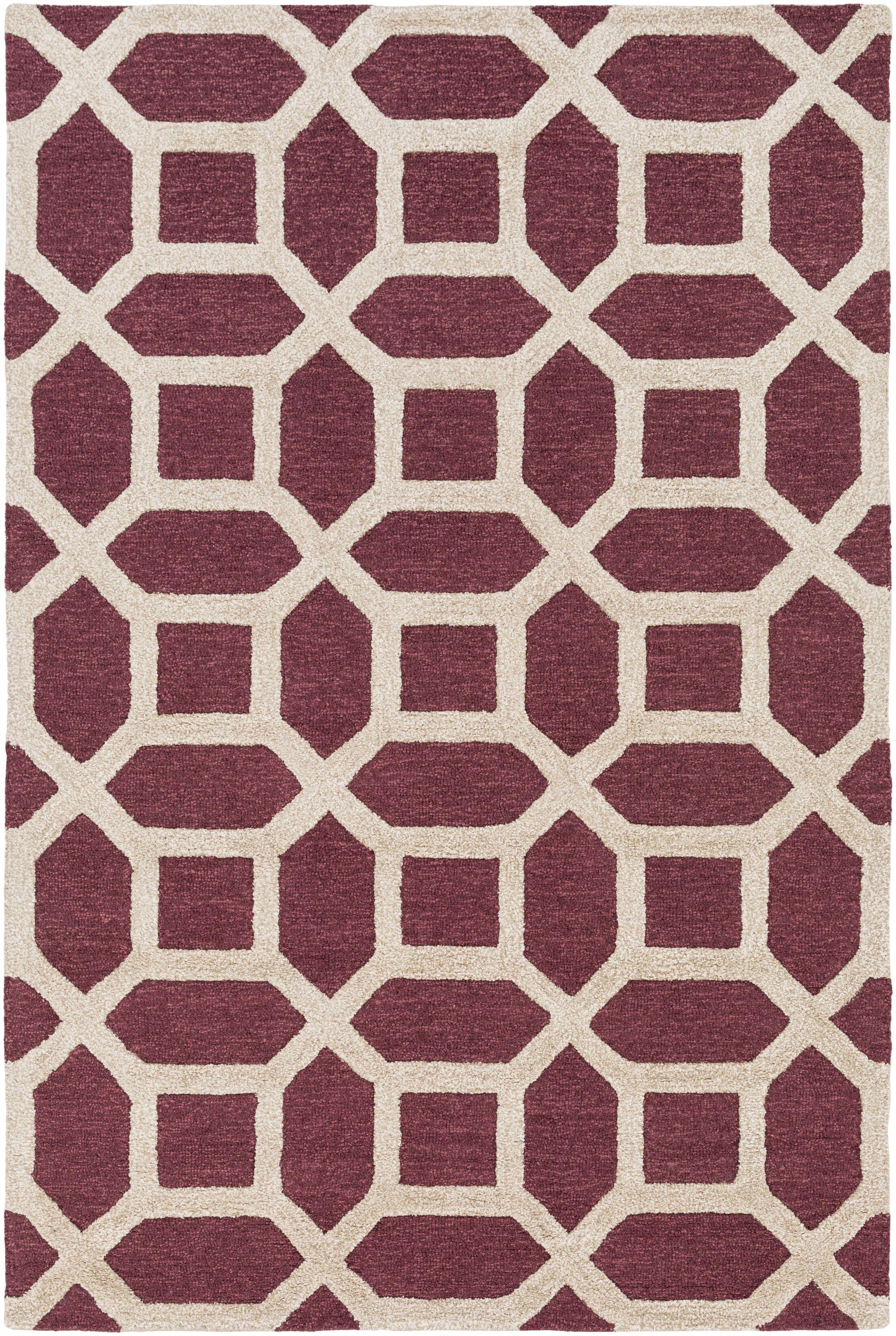 Wyble Hand-Tufted Maroon Area Rug Rug Size: Rectangle 8' x 11'