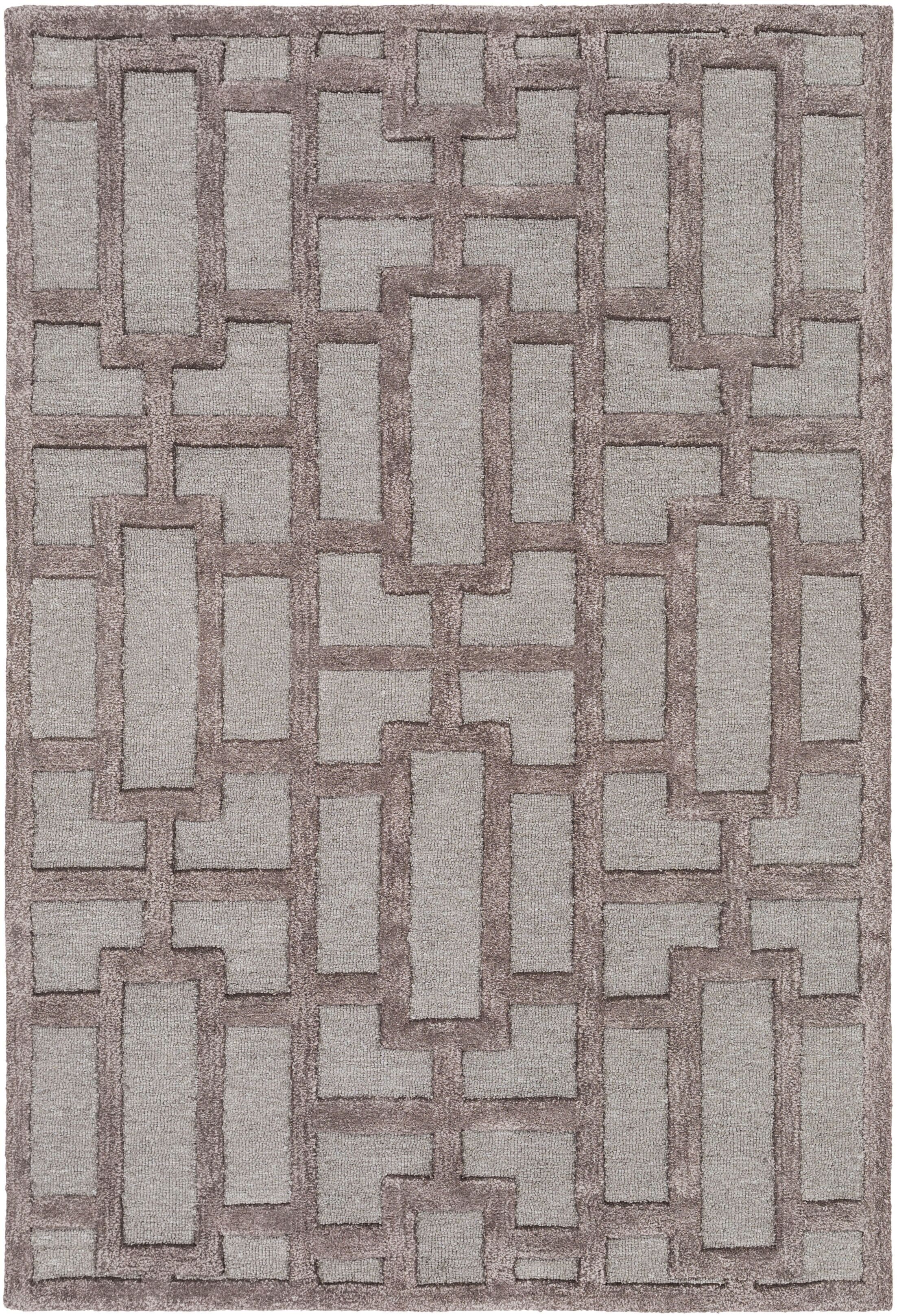 Perpetua Hand-Tufted Light Blue/Gray Area Rug Rug Size: Rectangle 5' x 7'6