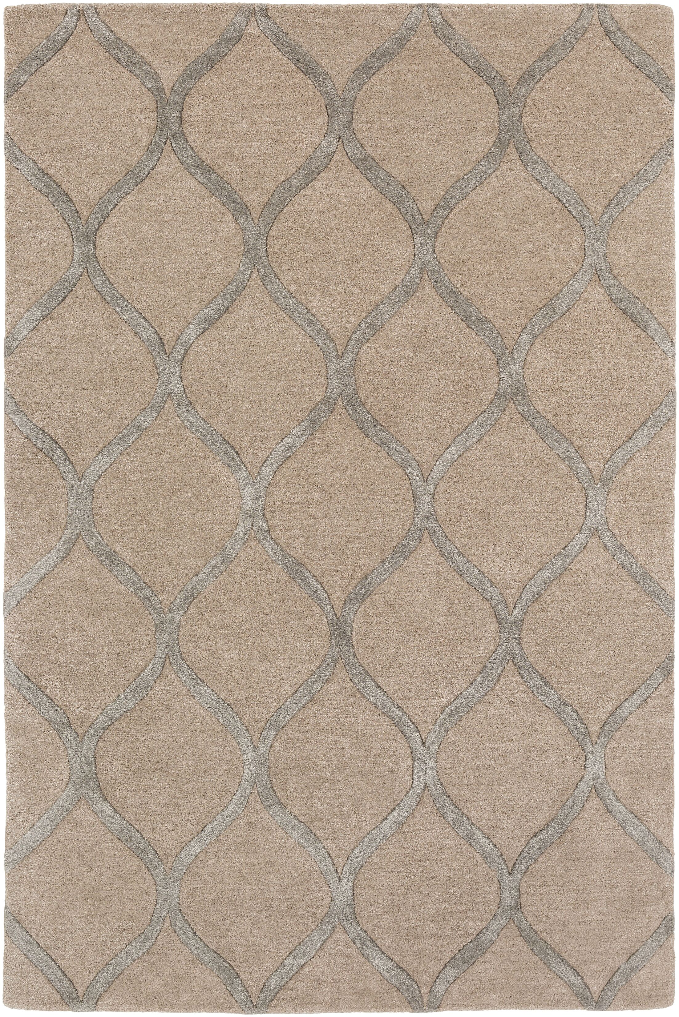 Bronaugh Modern Hand-Tufted Brown Area Rug Rug Size: Rectangle 7'6