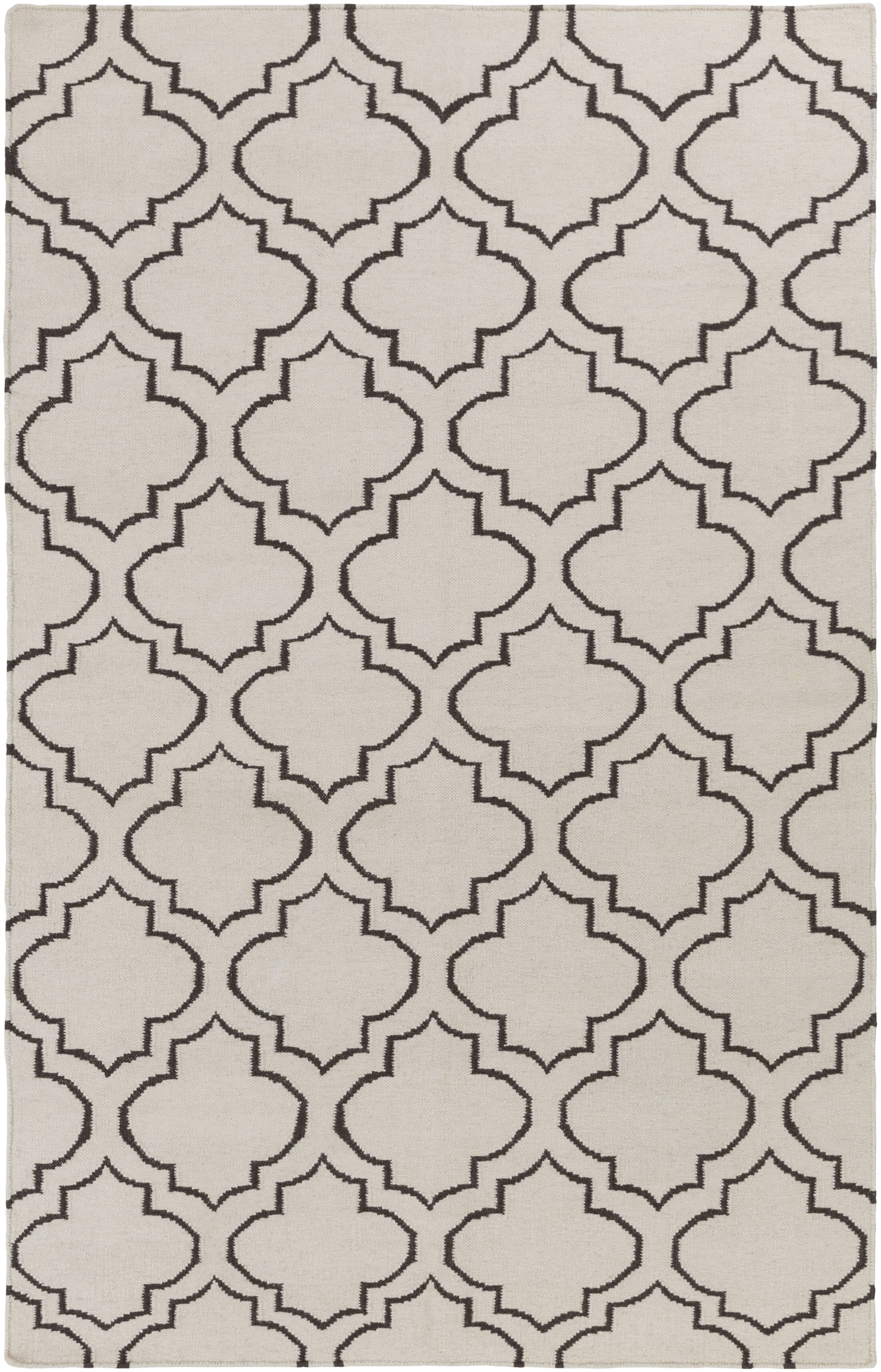 Aylesworth Ivory/Gray Area Rug Rug Size: Rectangle 9' x 12'