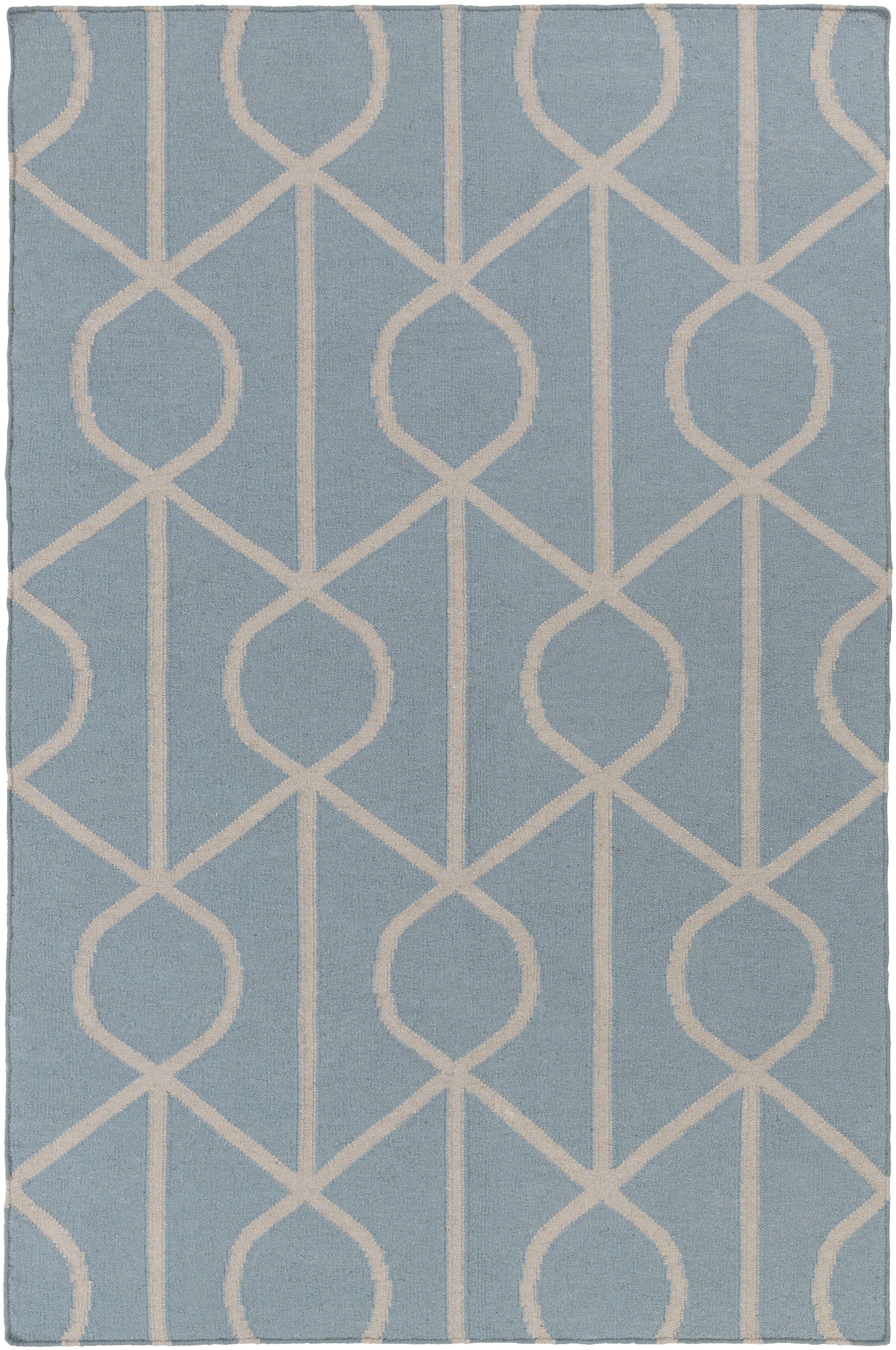 Murrill Light Blue Area Rug Rug Size: Rectangle 10' x 14'