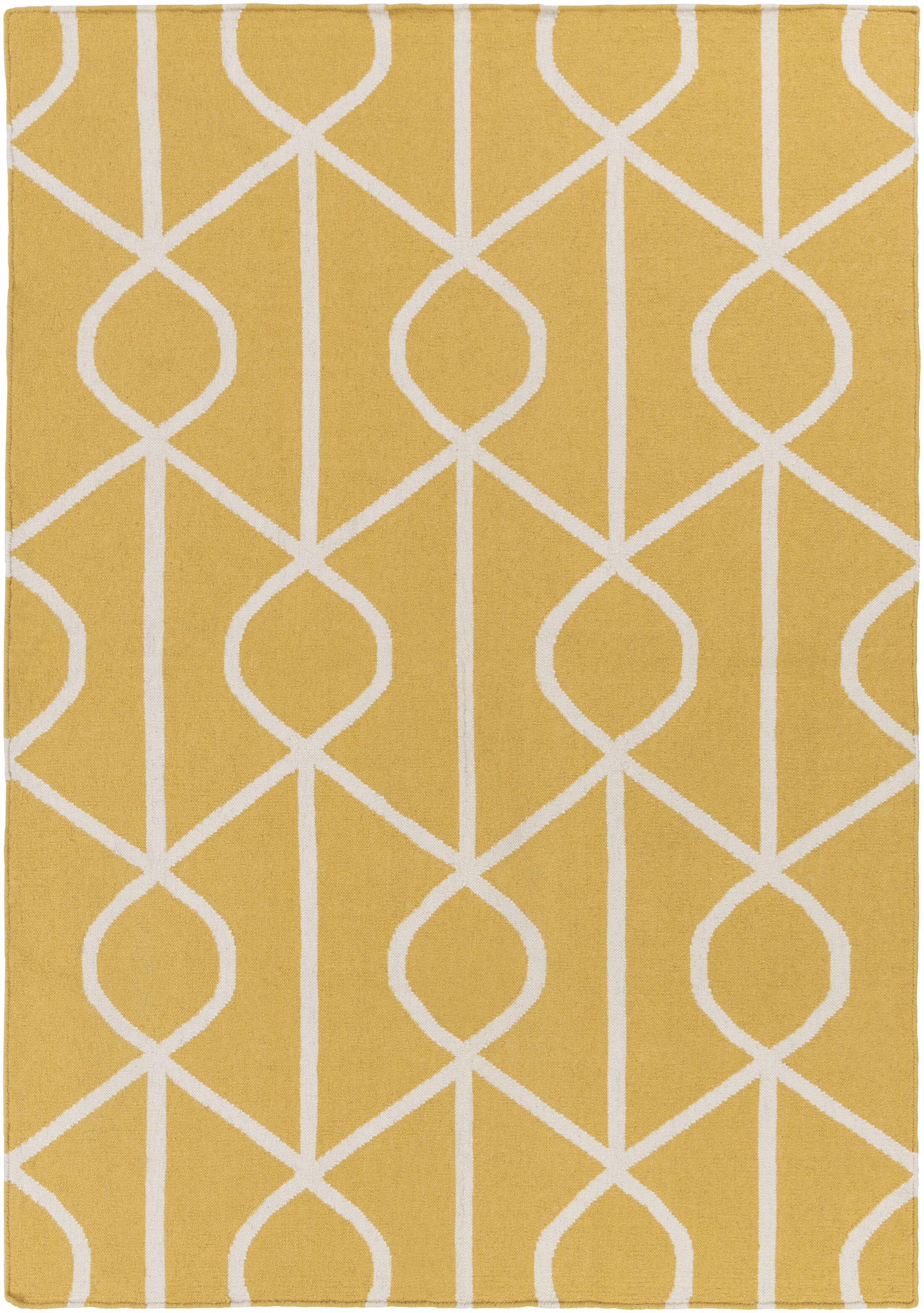 Murrill Yellow Area Rug Rug Size: Rectangle 5' x 8'