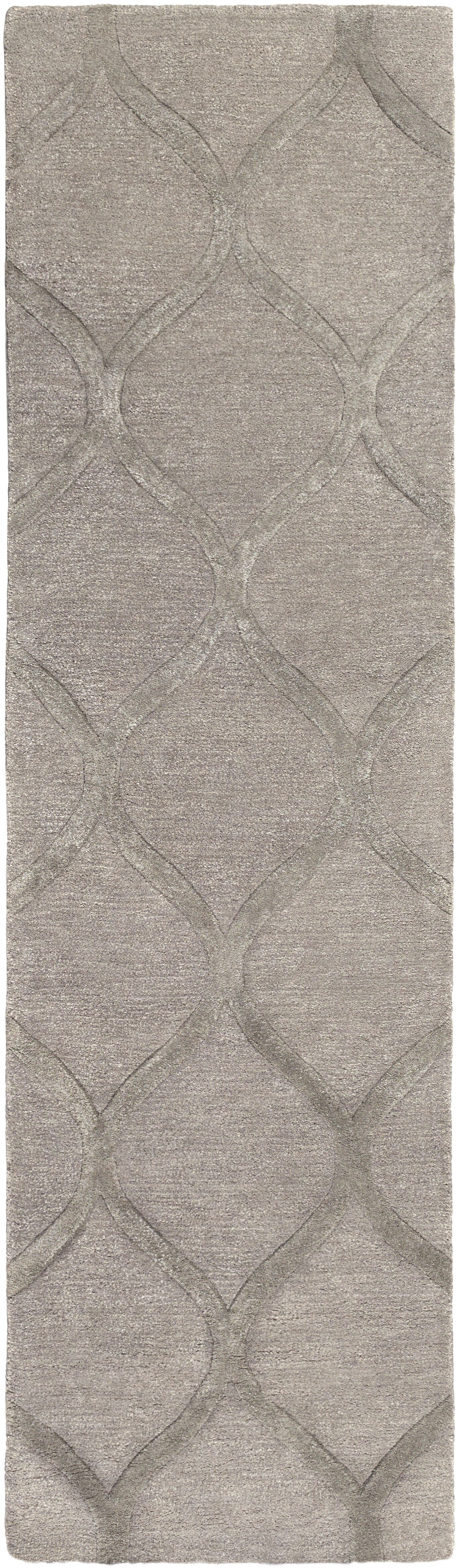 Bronaugh Hand-Tufted Wool Taupe Area Rug Rug Size: Round 6'