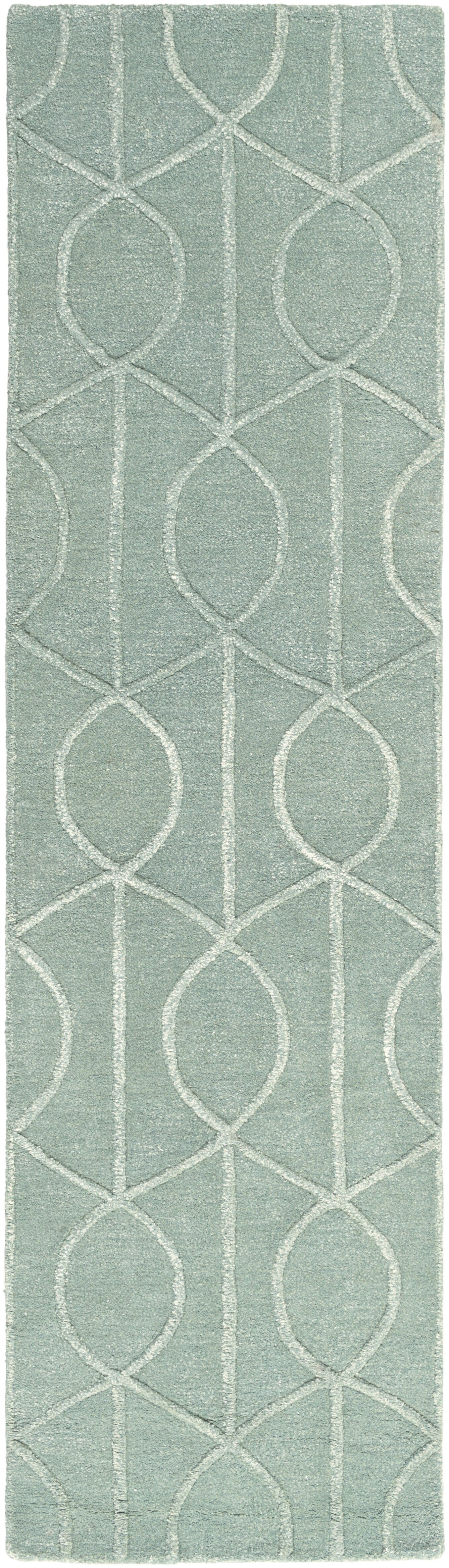 Abbey Hand-Tufted Teal Area Rug Rug Size: Rectangle 3' x 5'