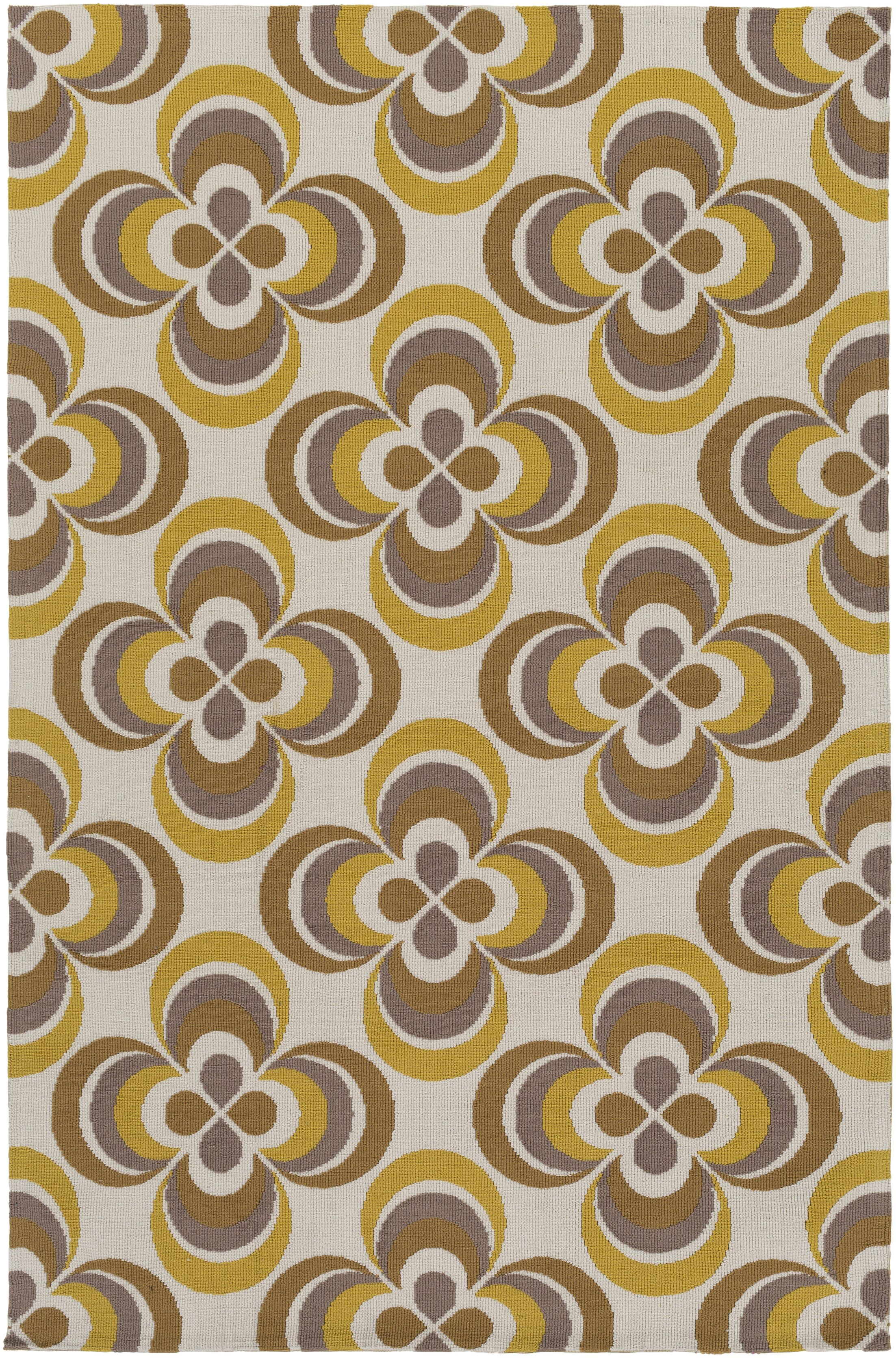 Mraz Gold/Yellow Area Rug Rug Size: Rectangle 3' x 5'