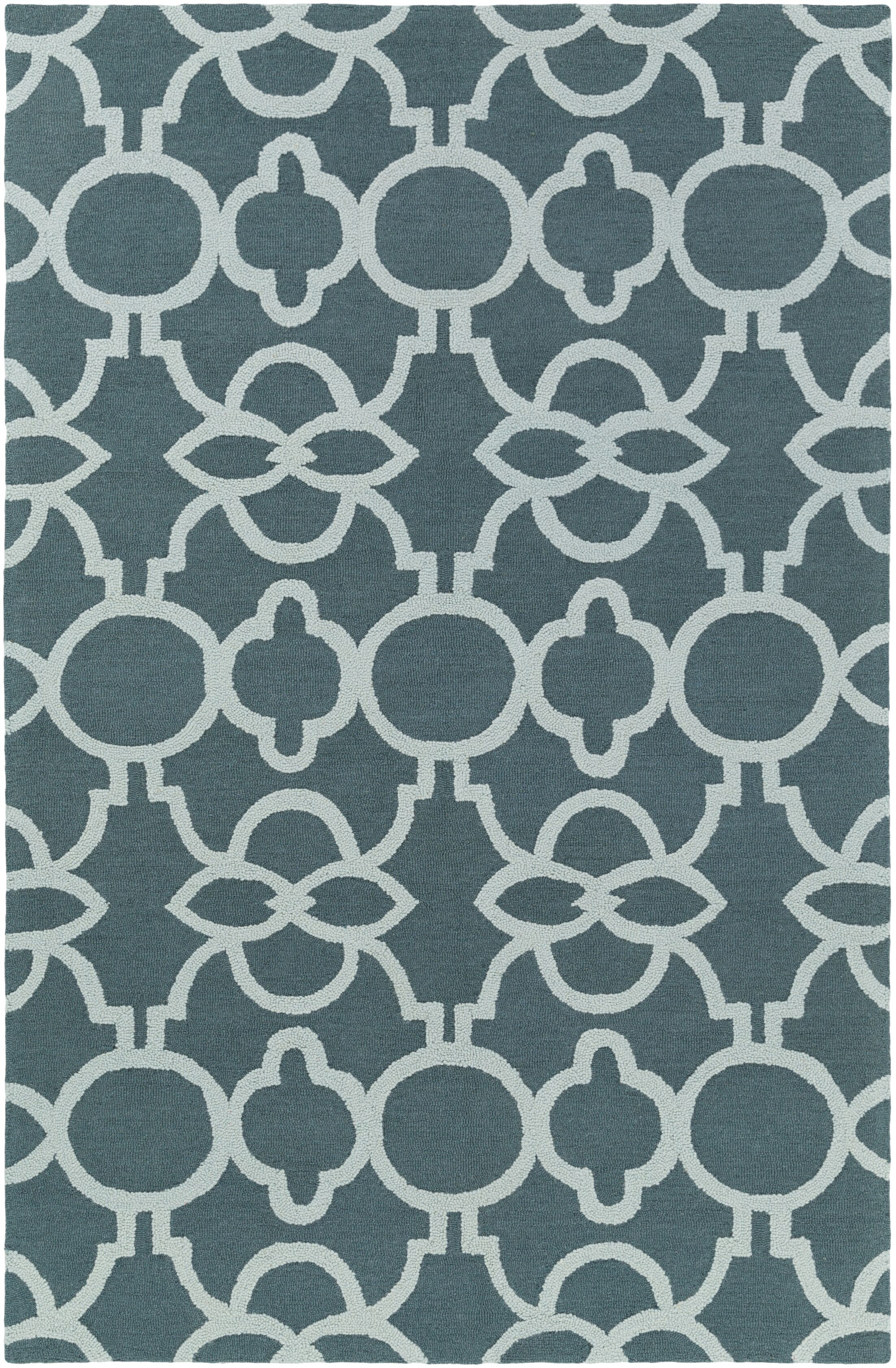 Sandi Hand-Crafted Teal/Mint Area Rug Rug Size: Runner 2'3