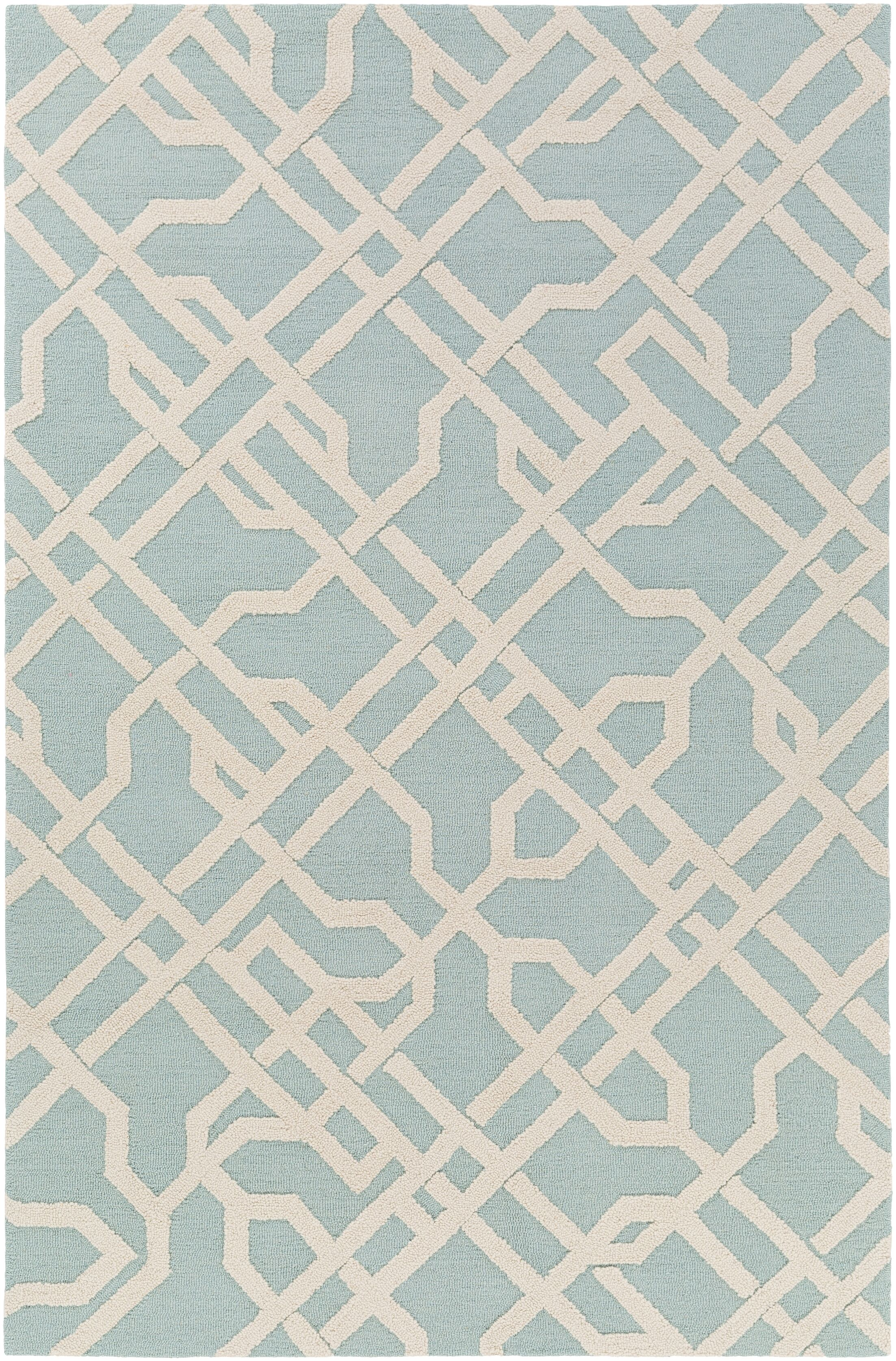 Daigle Hand-Crafted Blue Area Rug Rug Size: Rectangle 7'6