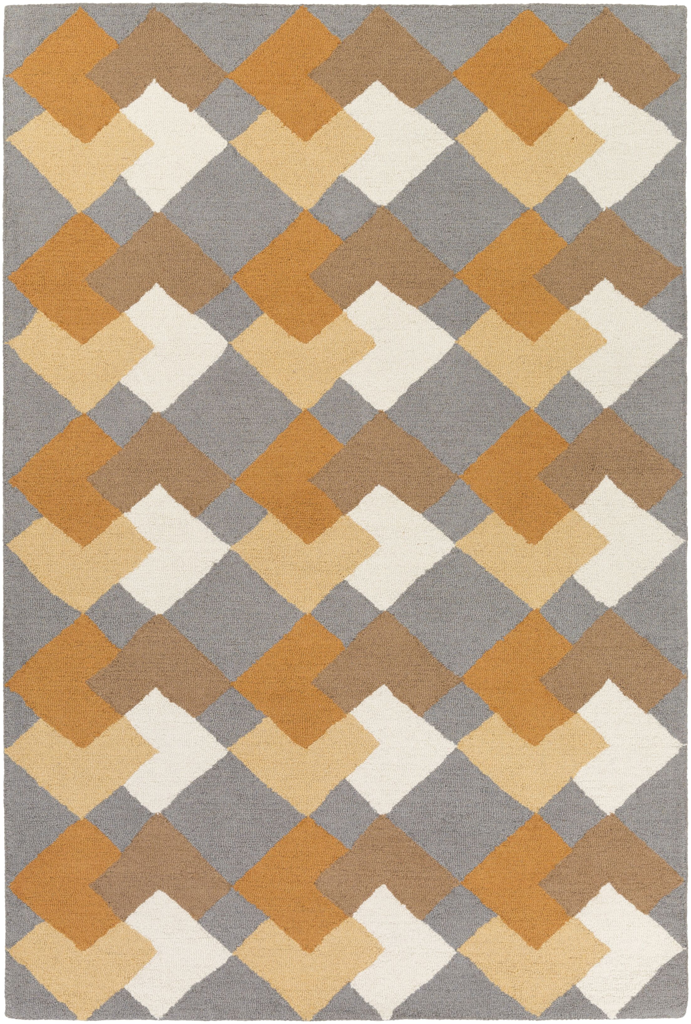 Younker Hand-Crafted Multi-Colored Area Rug Rug Size: Rectangle 8' x 11'