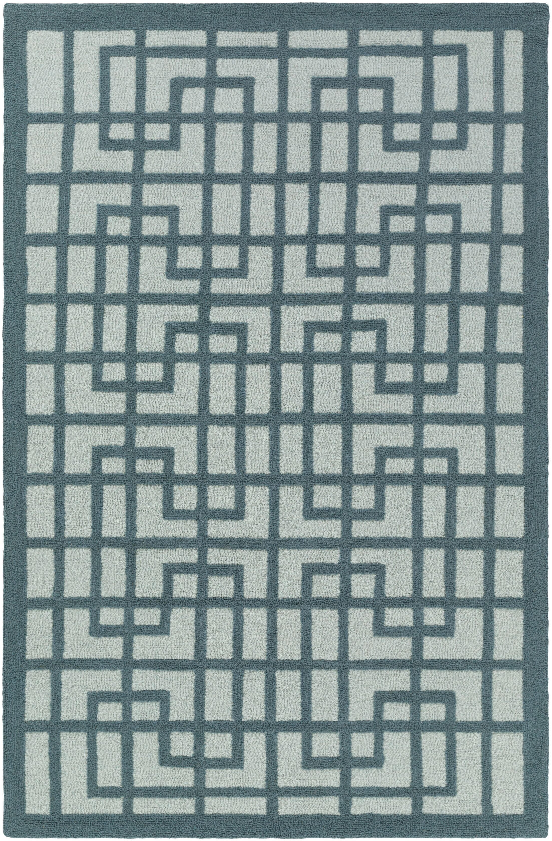 Rufina Hand-Crafted Teal/Mint Area Rug Rug Size: Rectangle 5' x 7'6