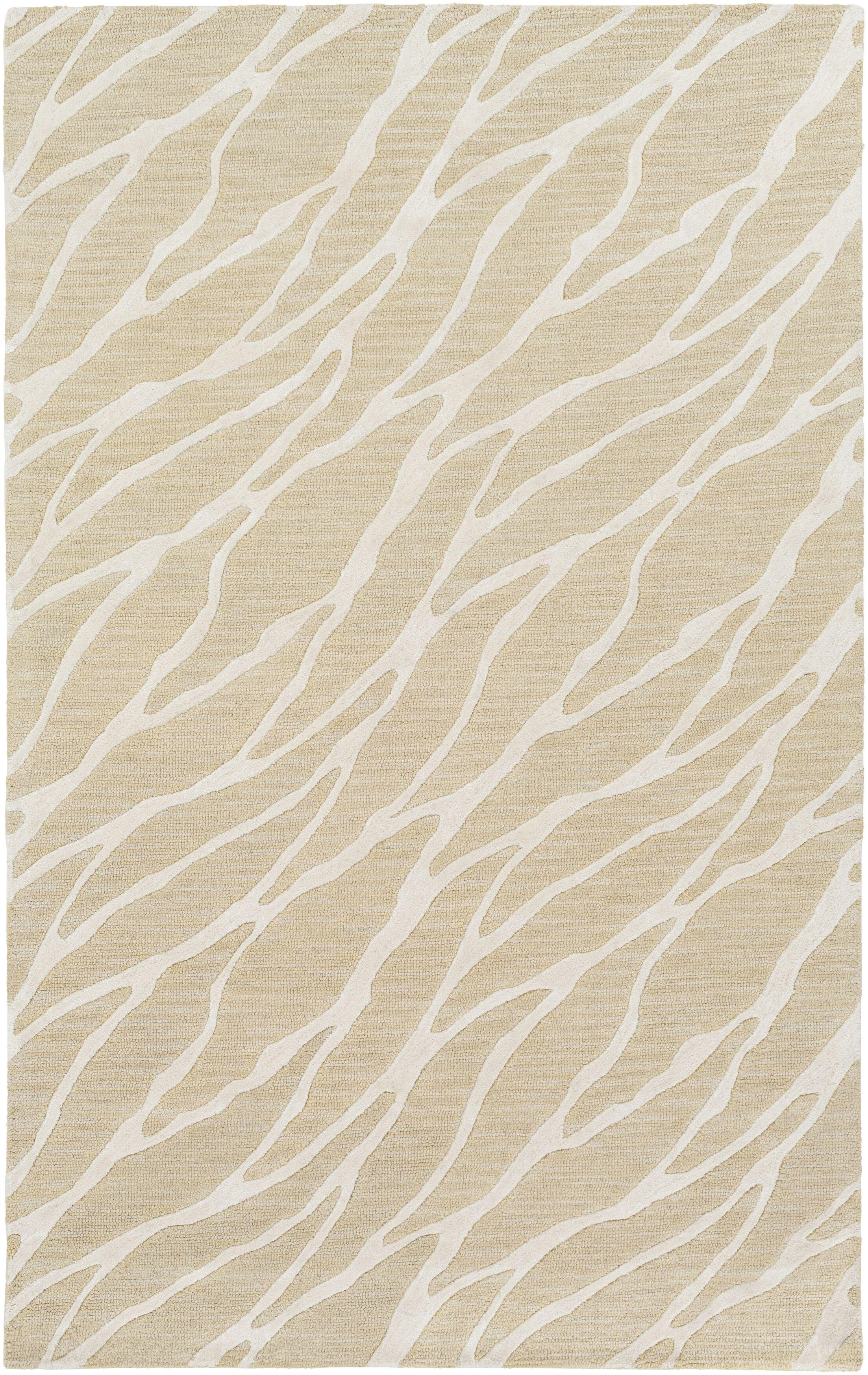 Blewett Hand-Tufted Beige/Ivory Area Rug Rug Size: Rectangle 9' x 13'
