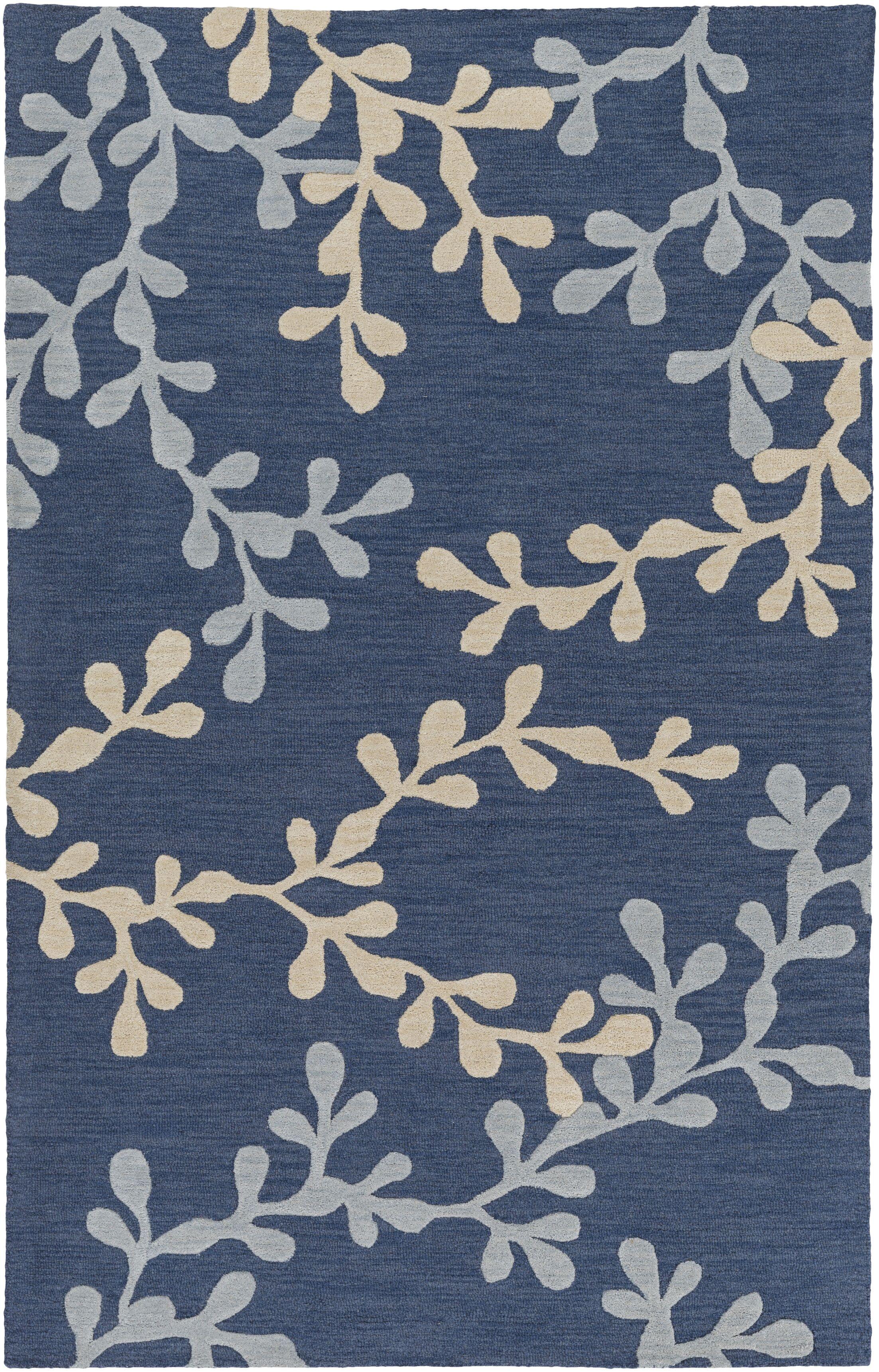 Coutu Hand-Tufted Blue/Slate Area Rug Rug Size: Rectangle 9' x 13'