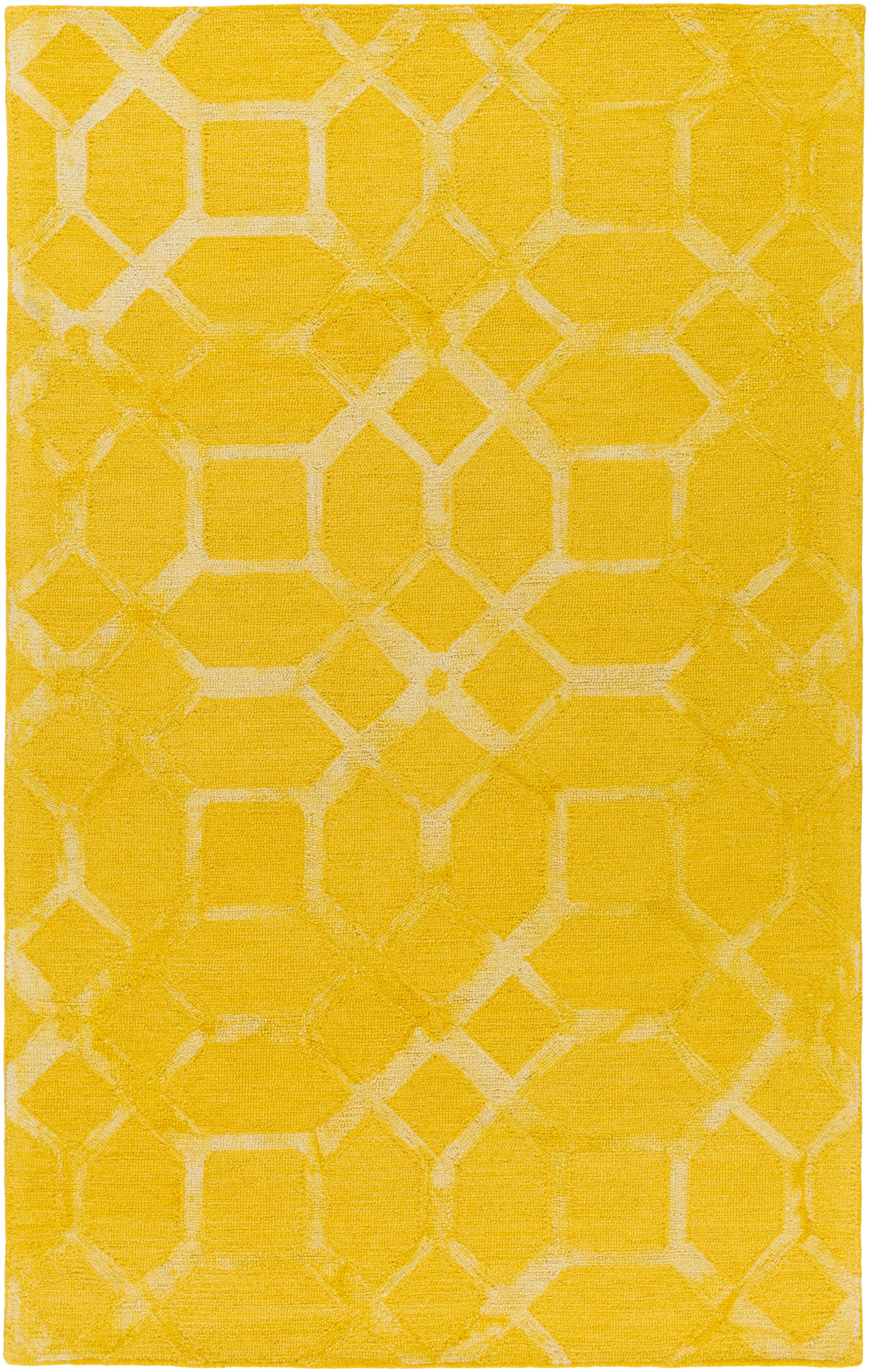 Glenmore Hand-Tufted Sunflower Area Rug Rug Size: Rectangle 4' x 6'