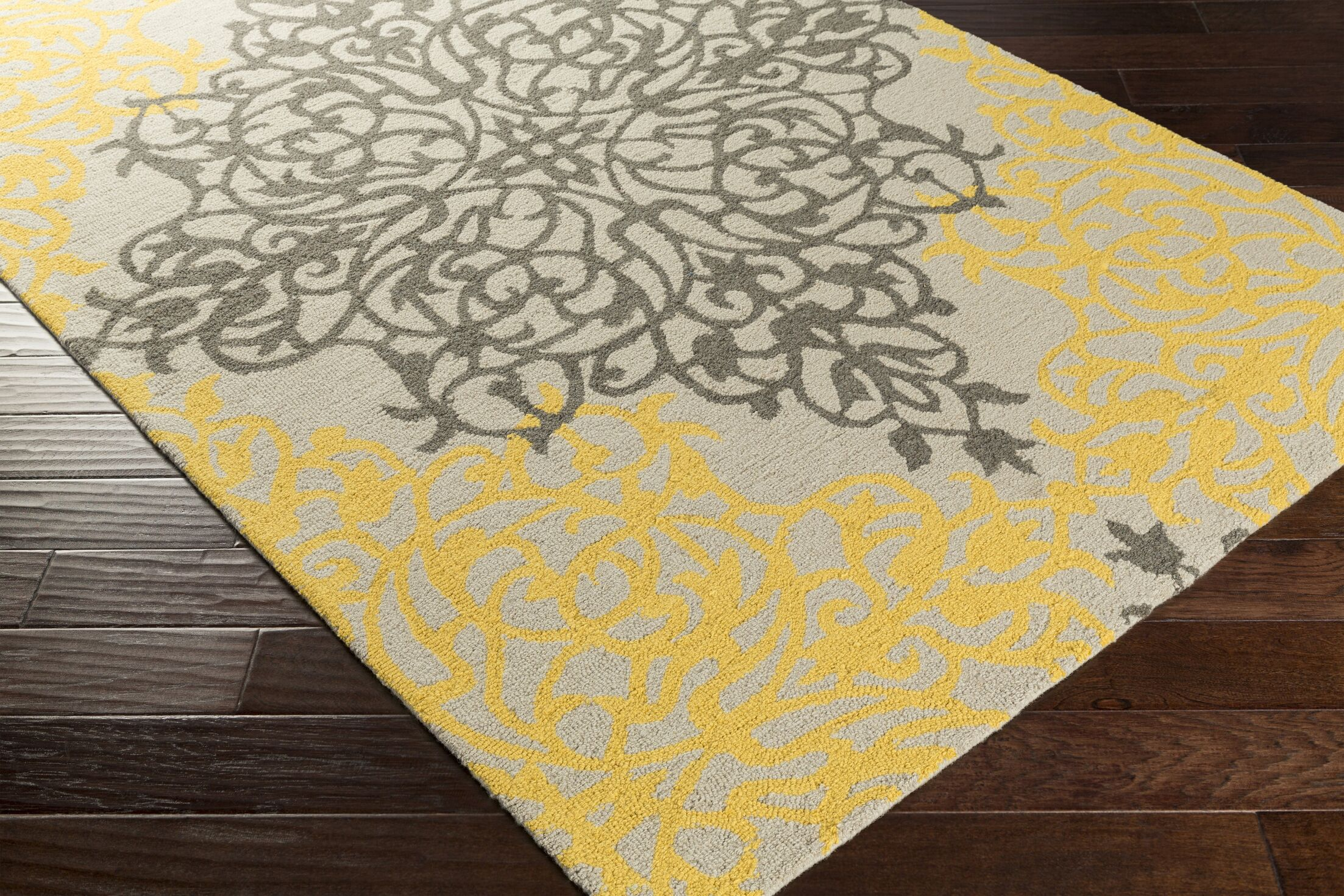 Kerner Hand-Tufted Gold/Beige Area Rug Rug Size: Rectangle 8' x 10'