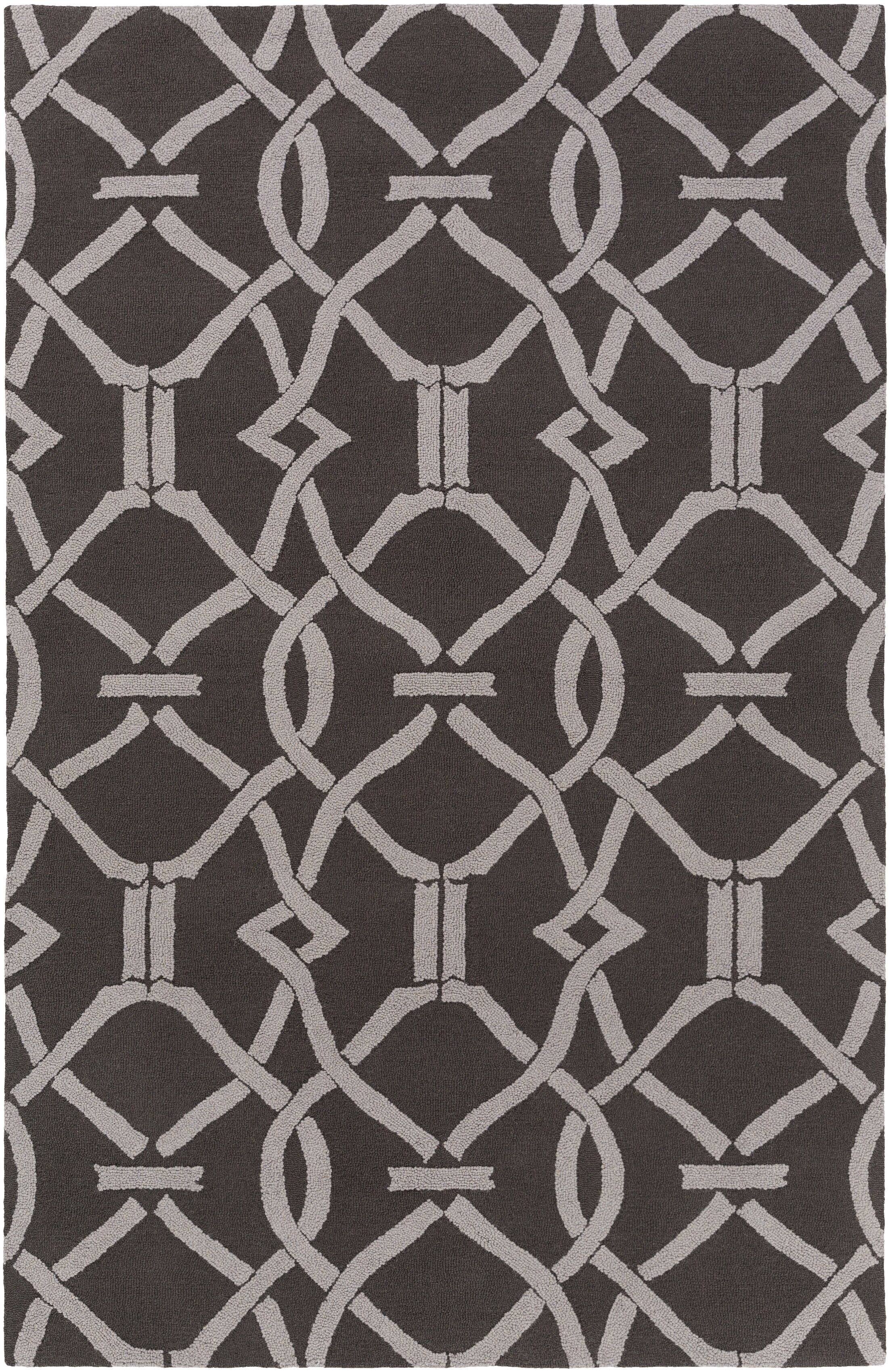 Dyess Hand-Crafted Slate/Gray Area Rug Rug Size: Rectangle 8' x 11'