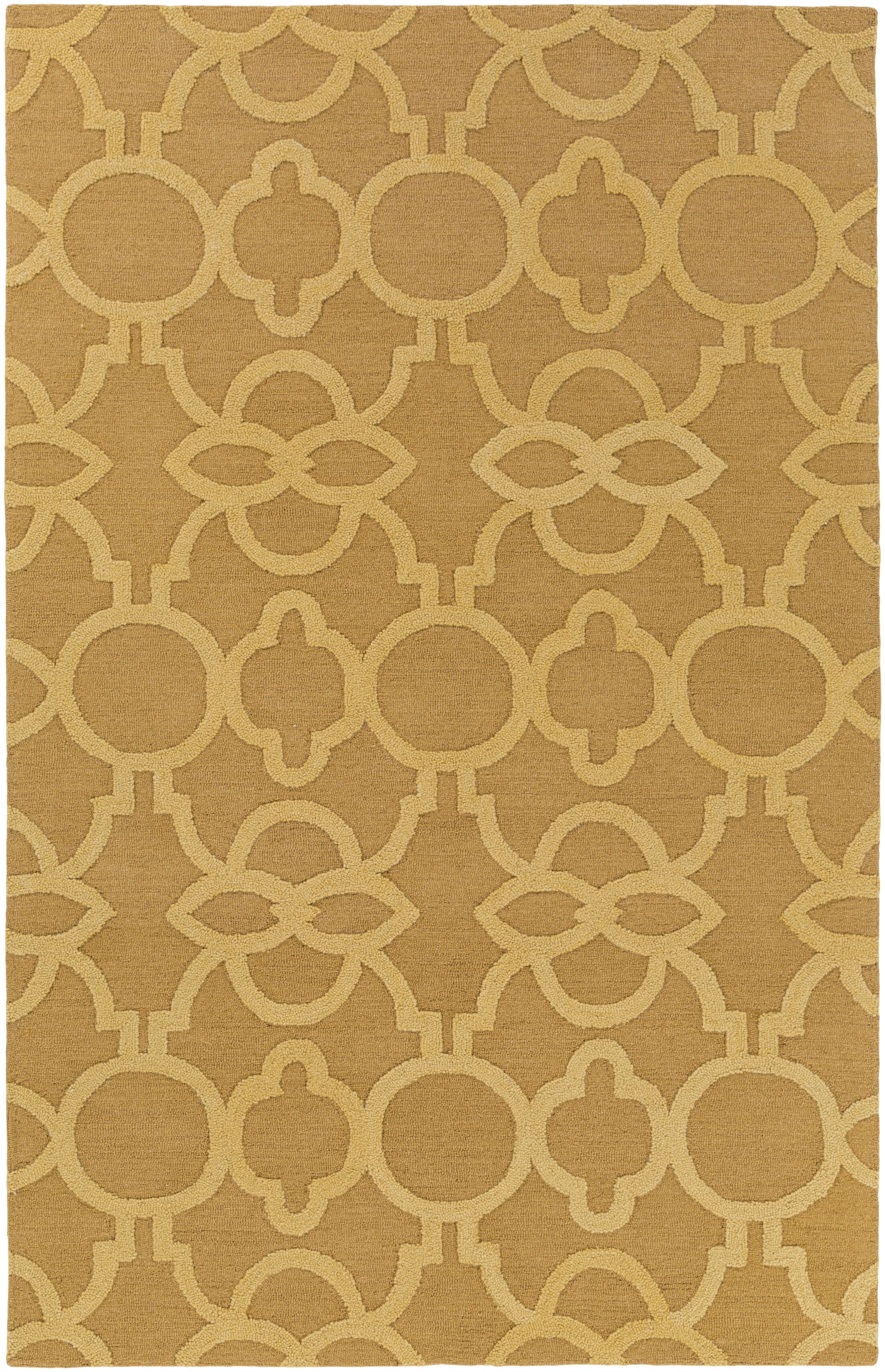 Sandi Hand-Crafted Gold Area Rug Rug Size: Rectangle 8' x 11'