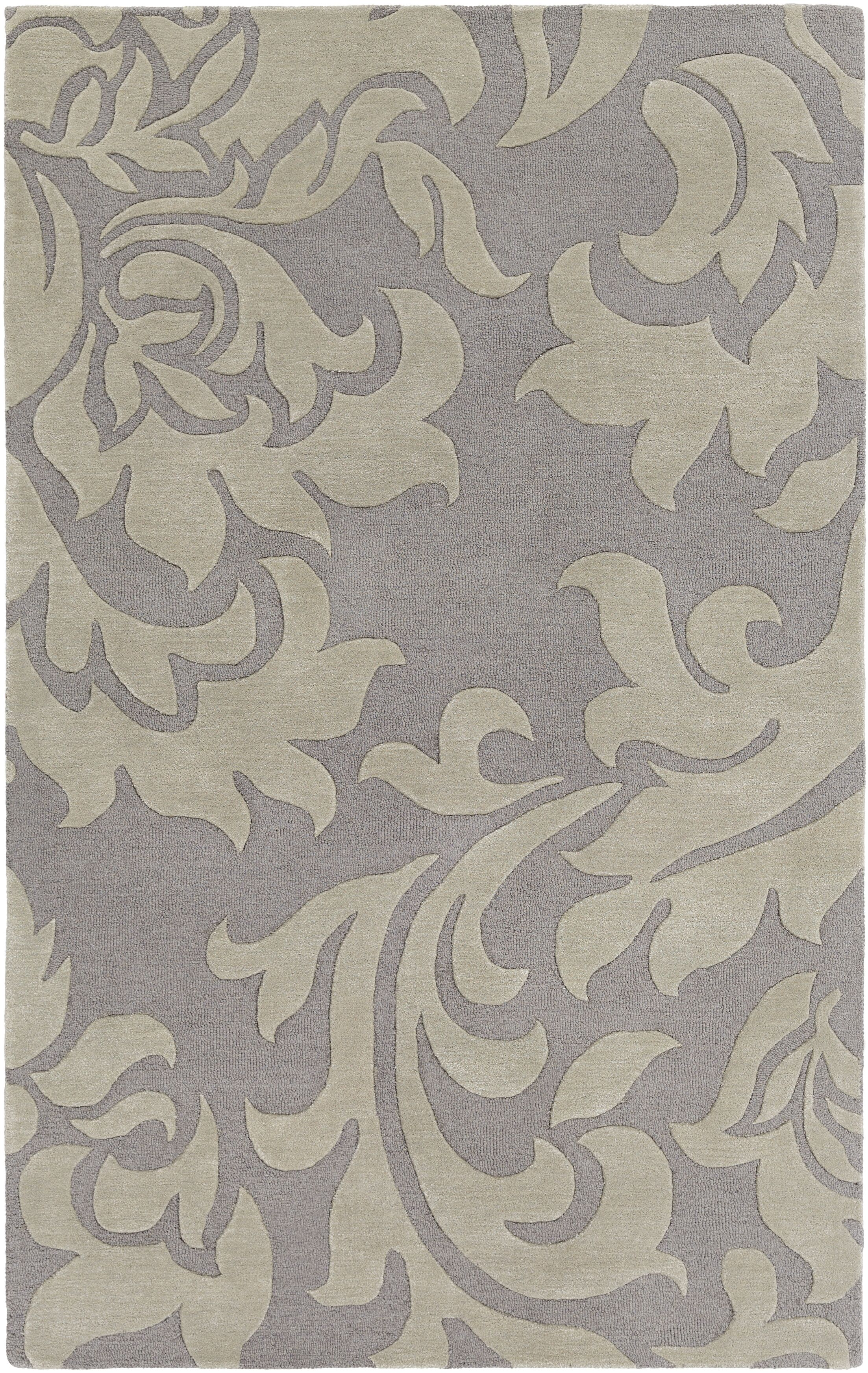 Kiesel Hand-Tufted Silver/Gray Area Rug Rug Size: Rectangle 9' x 13'