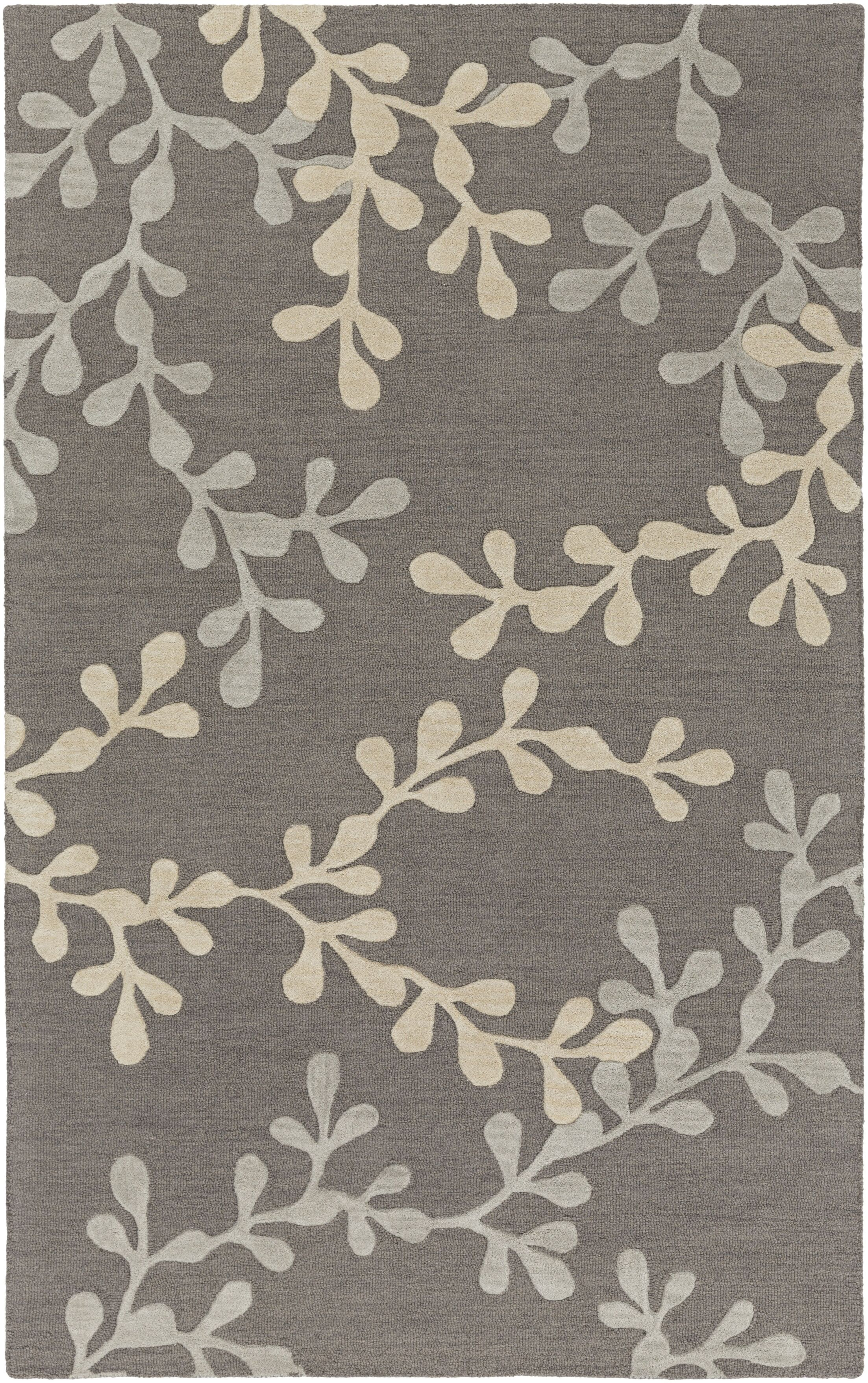 Coutu Hand-Tufted Pewter/Slate Area Rug Rug Size: Rectangle 5' x 8'