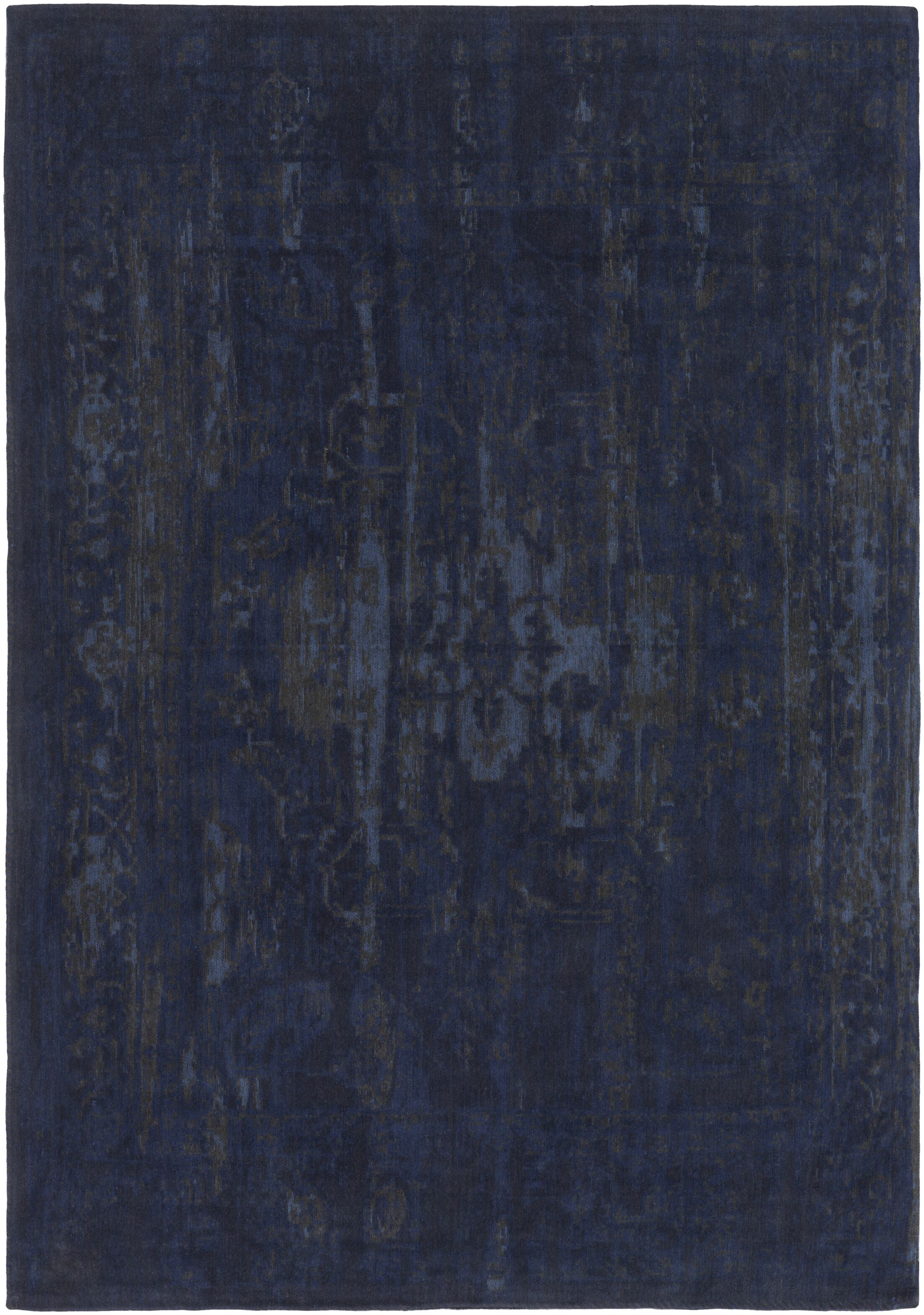 Mcintosh Hand Woven Navy/Gray Area Rug Rug Size: Rectangle 8' x 10'