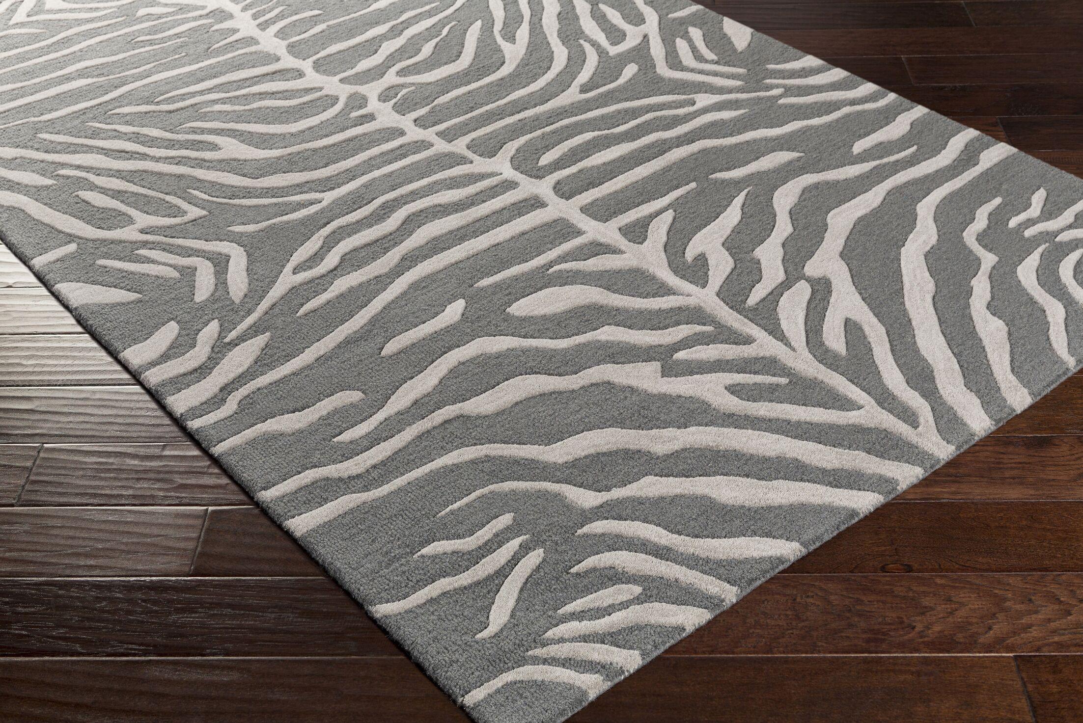 Langner Handmade Slate Area Rug Rug Size: Rectangle 4' x 6'