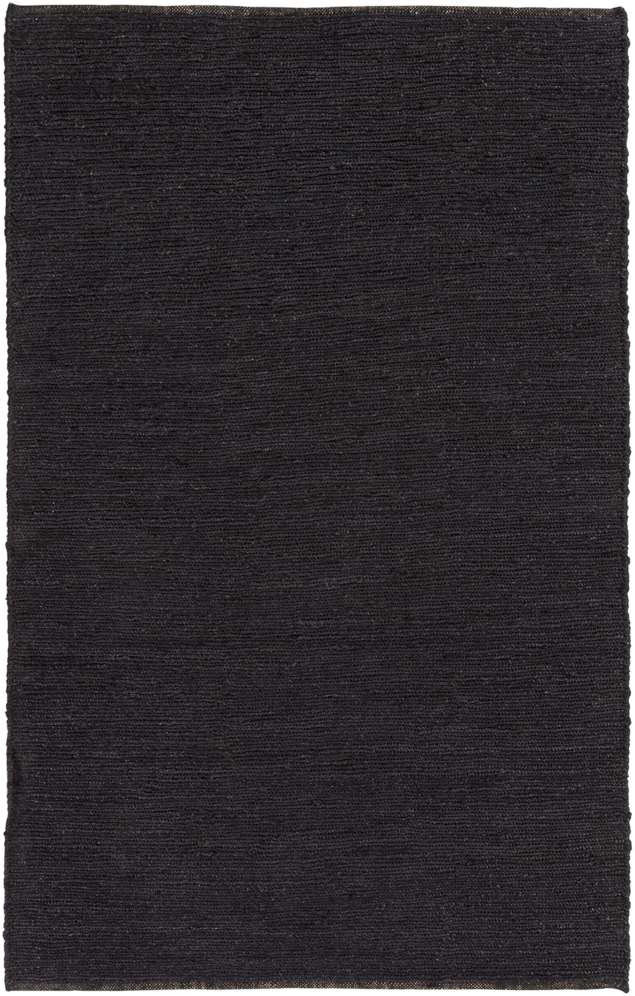 Zellers Hand-Woven Black Area Rug Rug Size: Rectangle 8' x 10'
