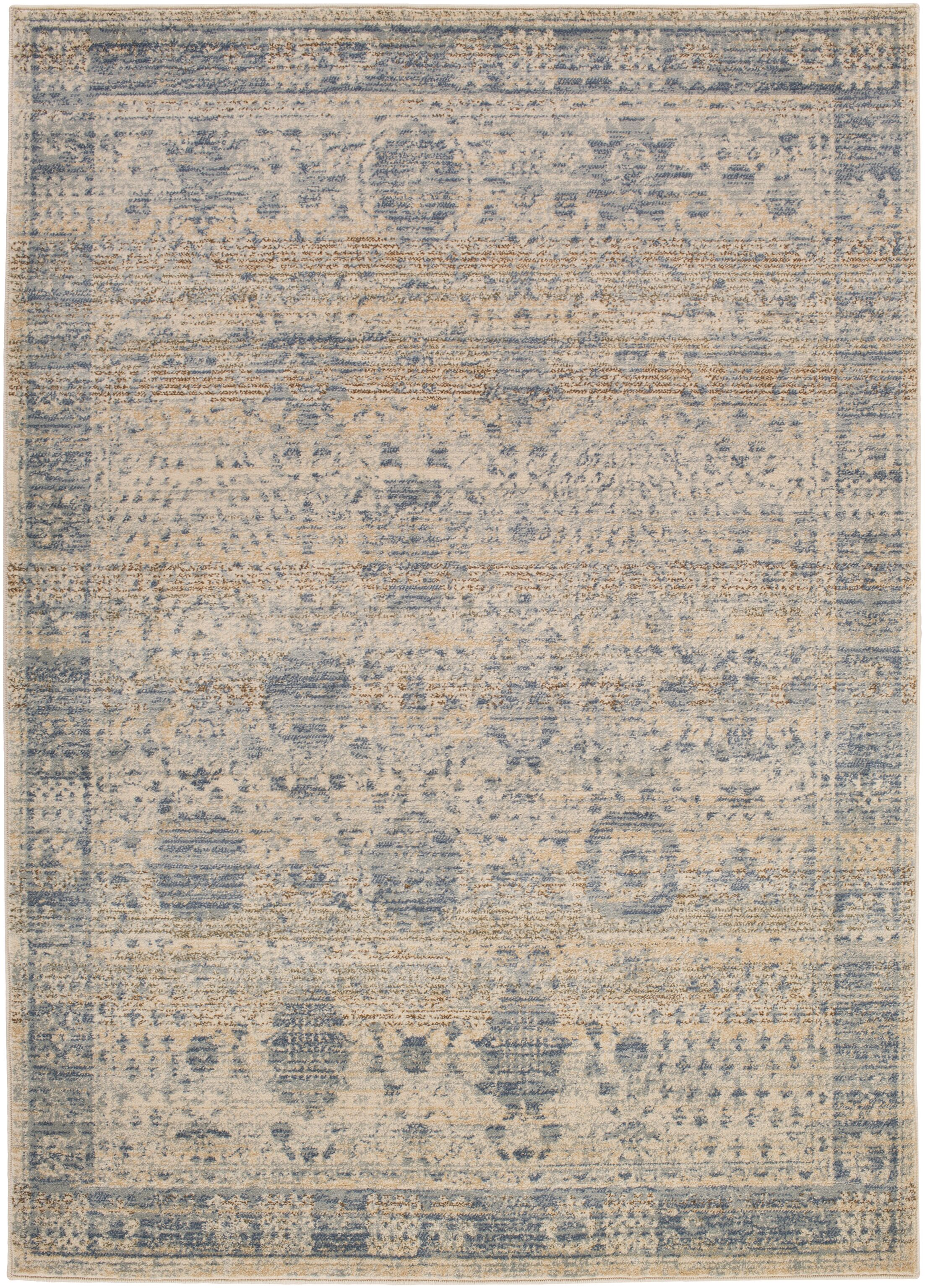 Dineen Blue Area Rug Rug Size: Rectangle 5'3