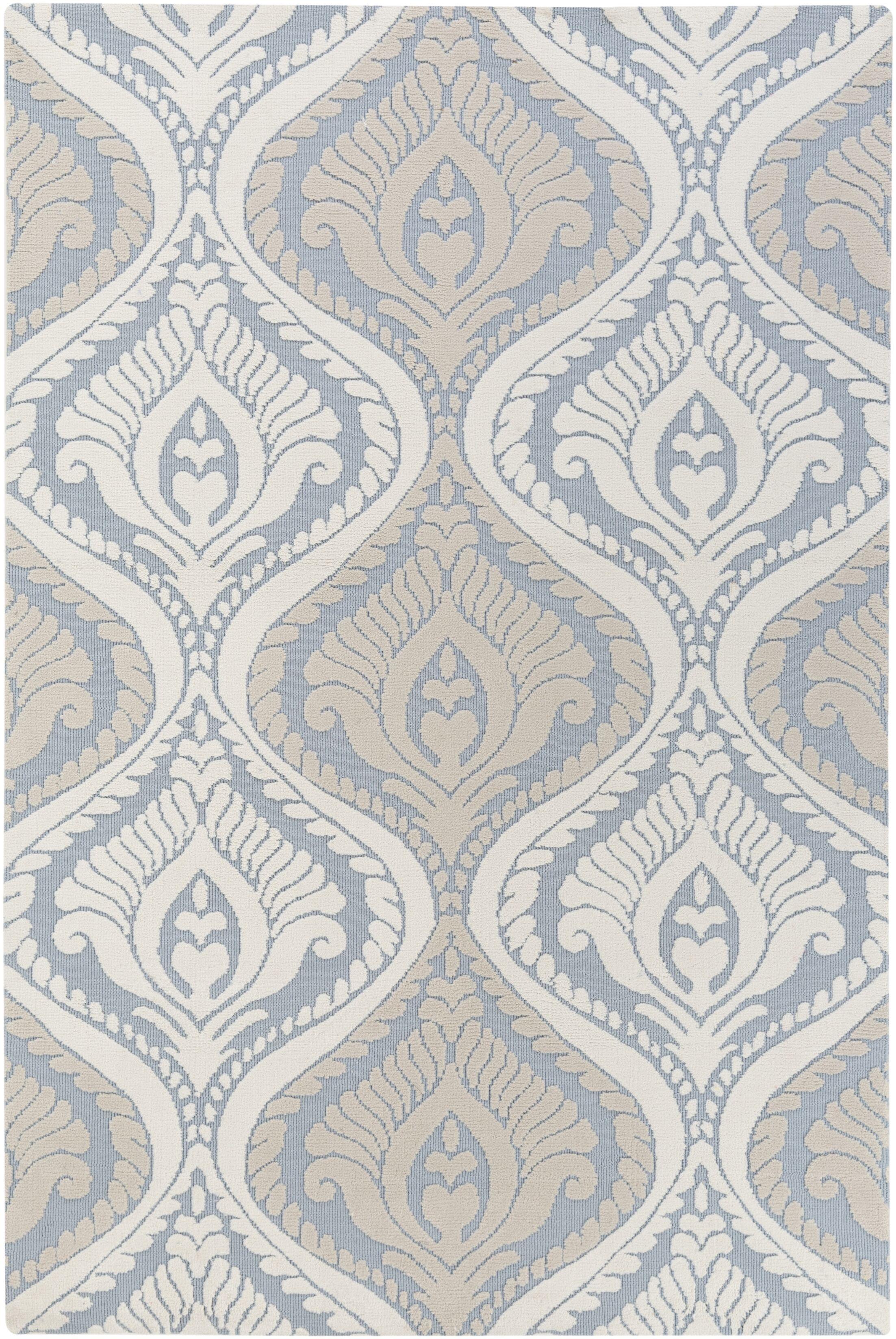 Mangus Light Blue/ Ivory Area Rug Rug Size: Rectangle 5' x 7'6