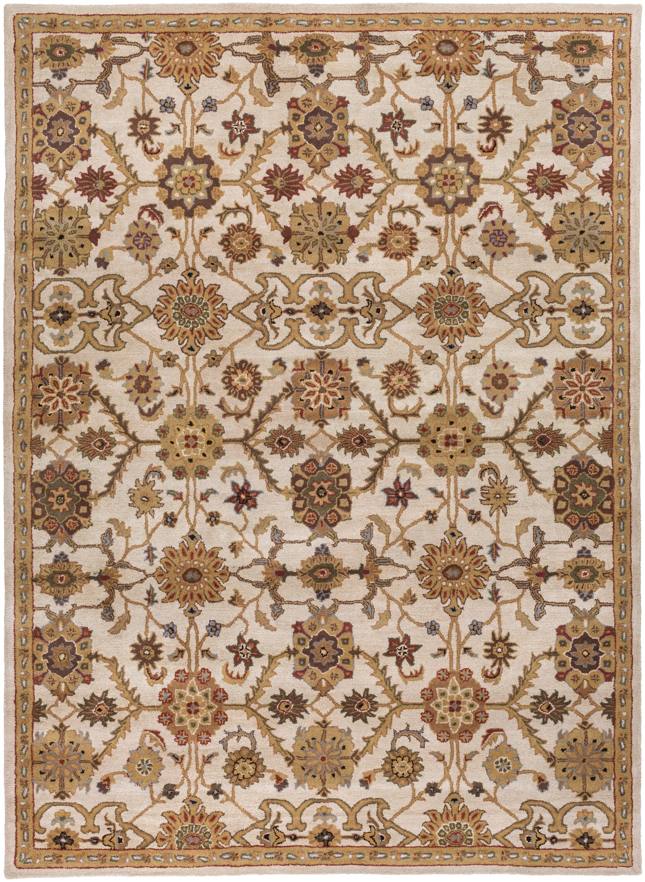 Philson Hand-Tufted Tan/Gray Area Rug Rug Size: Rectangle 7'6