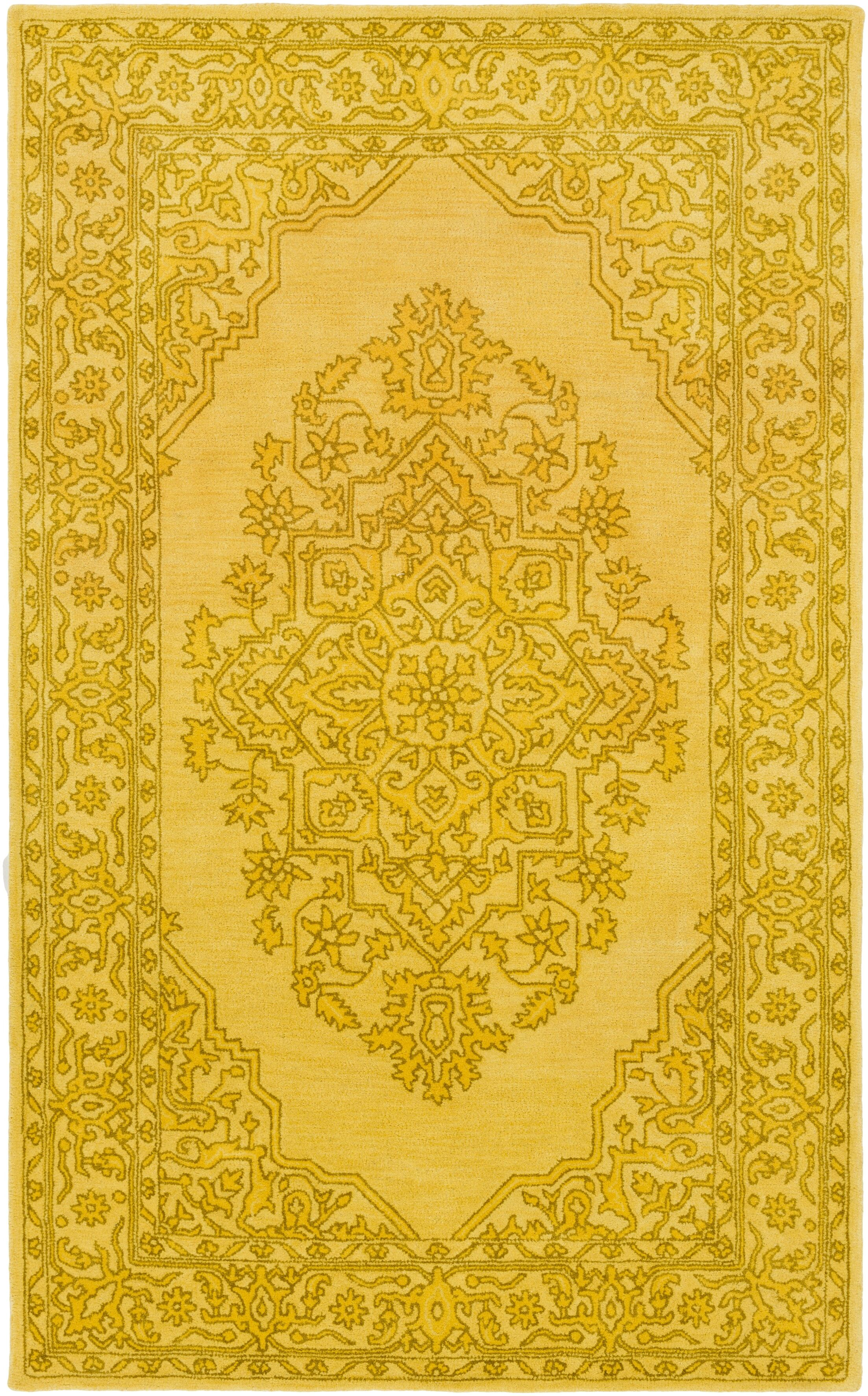 Farner Hand-Tufted Bright Yellow Area Rug Rug Size: Rectangle 9' x 13'