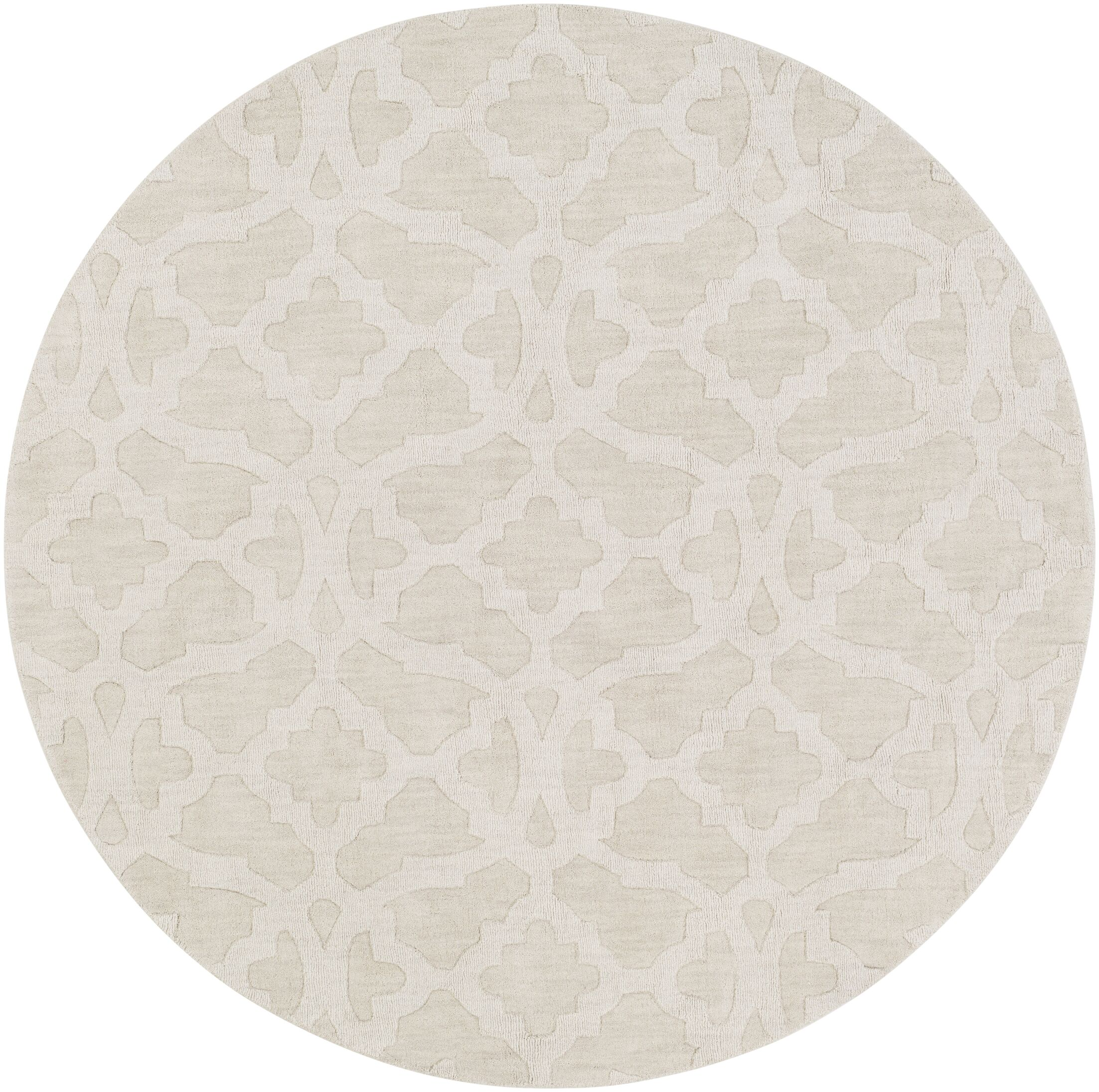 Dylan Handmade Ivory Area Rug Rug Size: Round 7'9