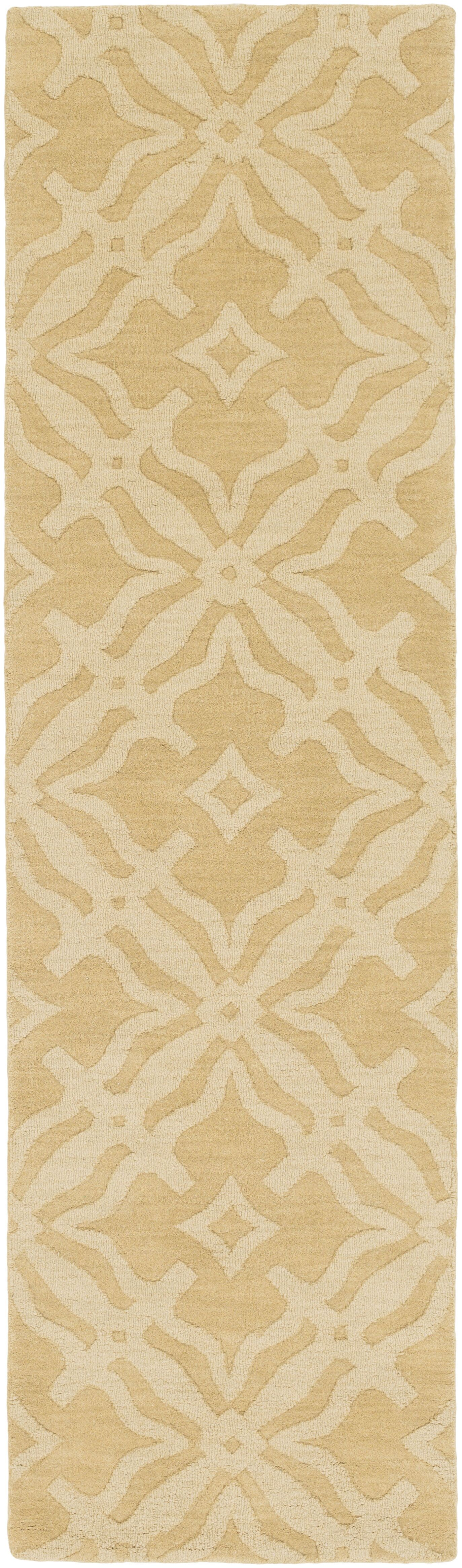 Dutchess Handmade Cream Area Rug Rug Size: Runner 2'3