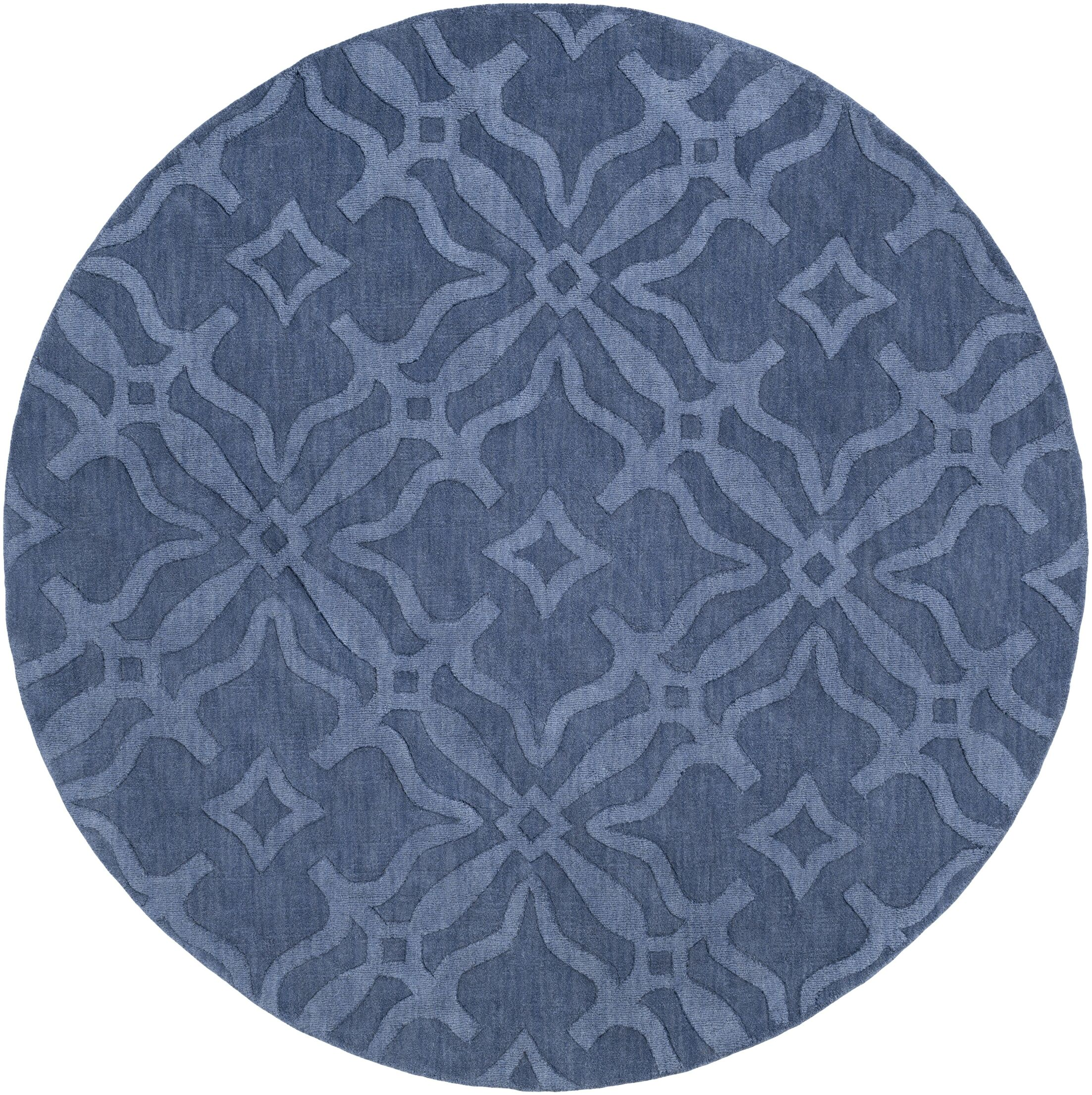 Dutchess Handmade Blue Area Rug Rug Size: Round 9'9
