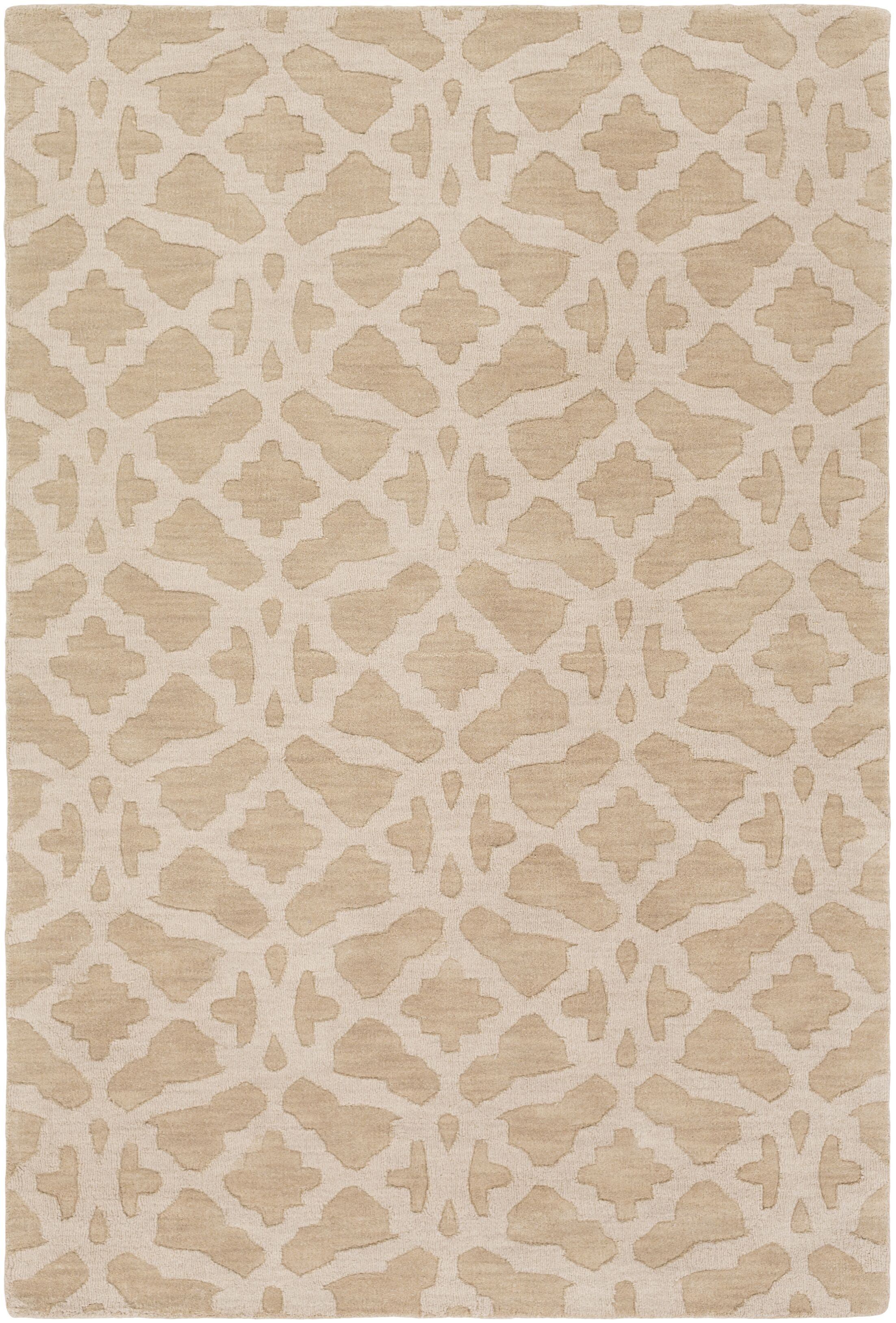 Dylan Hand-Loomed Beige Area Rug Rug Size: Rectangle 8' x 10'