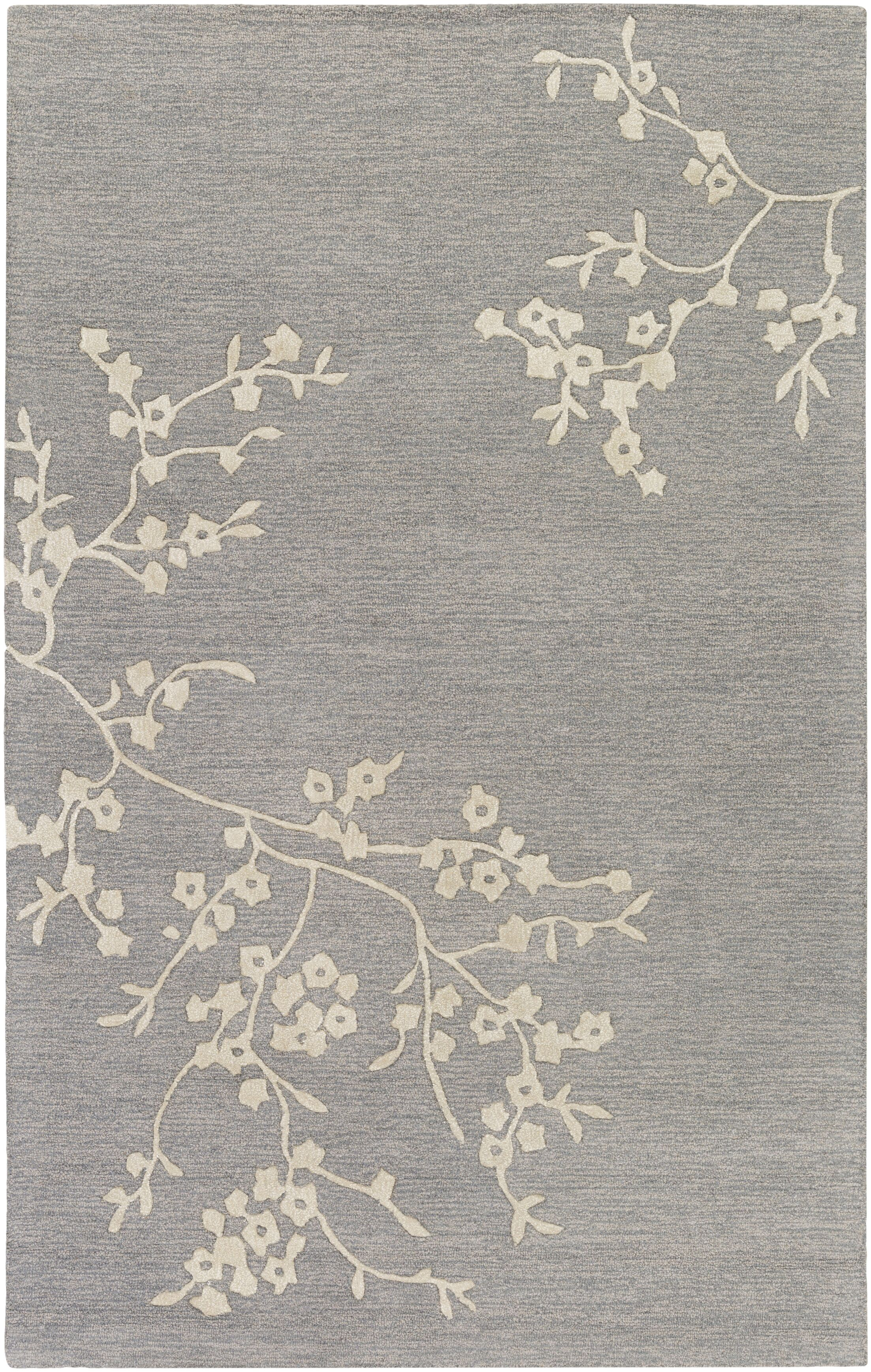 Kerney Hand-tufted Gray/Beige Area Rug Rug Size: Rectangle 5' x 8'