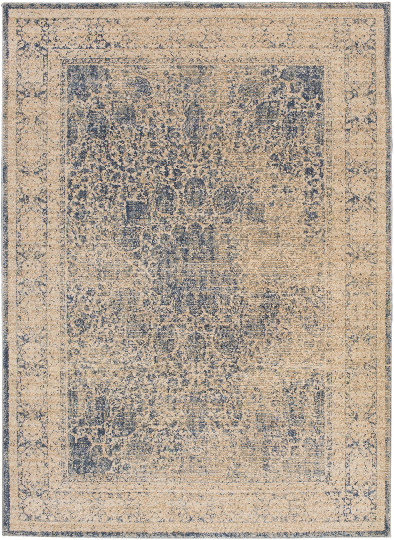 Keesler Blue Area Rug Rug Size: Rectangle 7'11