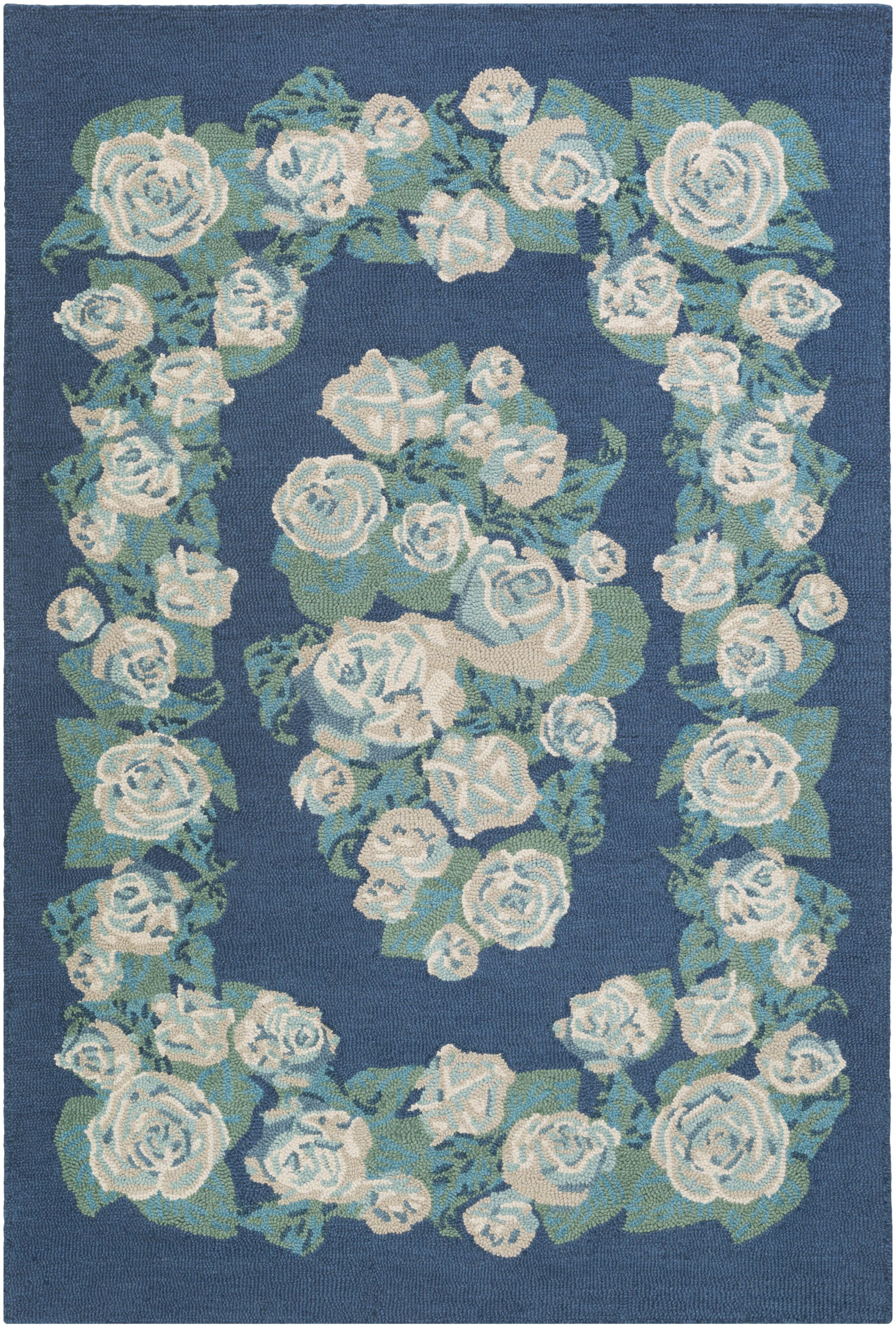 Lackey Hand-Tufted Blue Area Rug Rug Size: Rectangle 8' x 10'