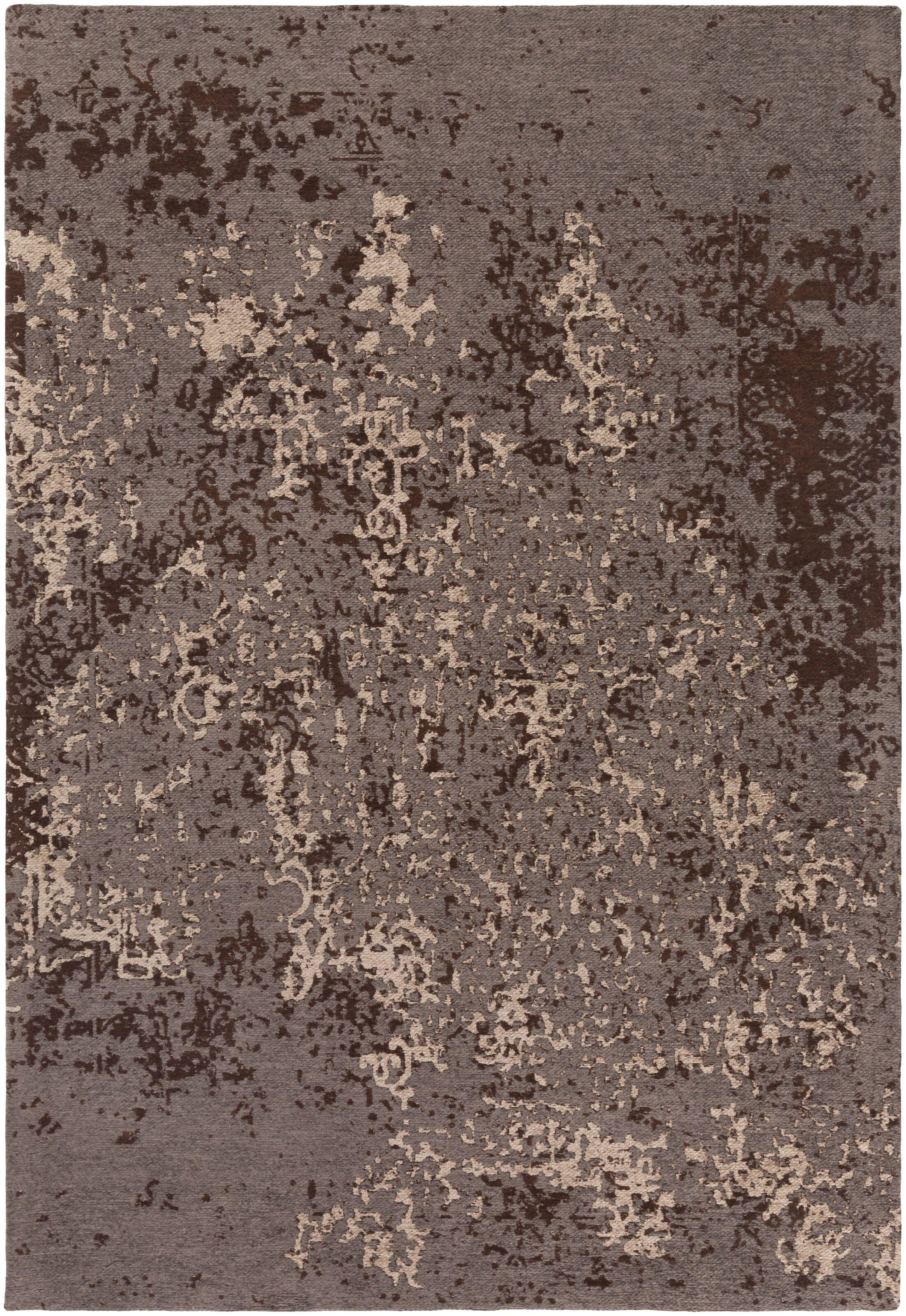 Detrick Gray/Brown Area Rug Rug Size: Rectangle 4' x 6'