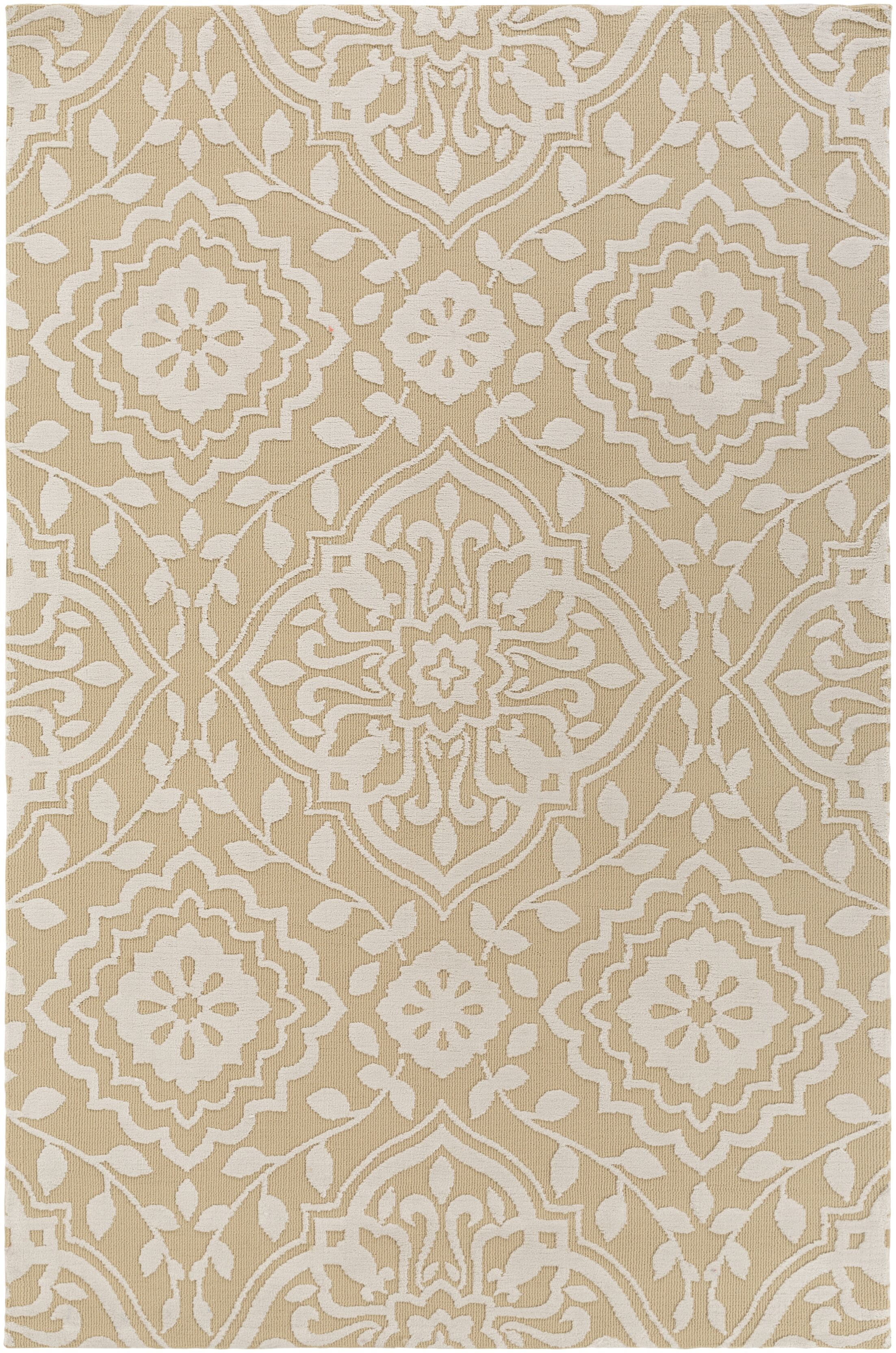 Kesler Straw/Ivory Area Rug Rug Size: Rectangle 7'6