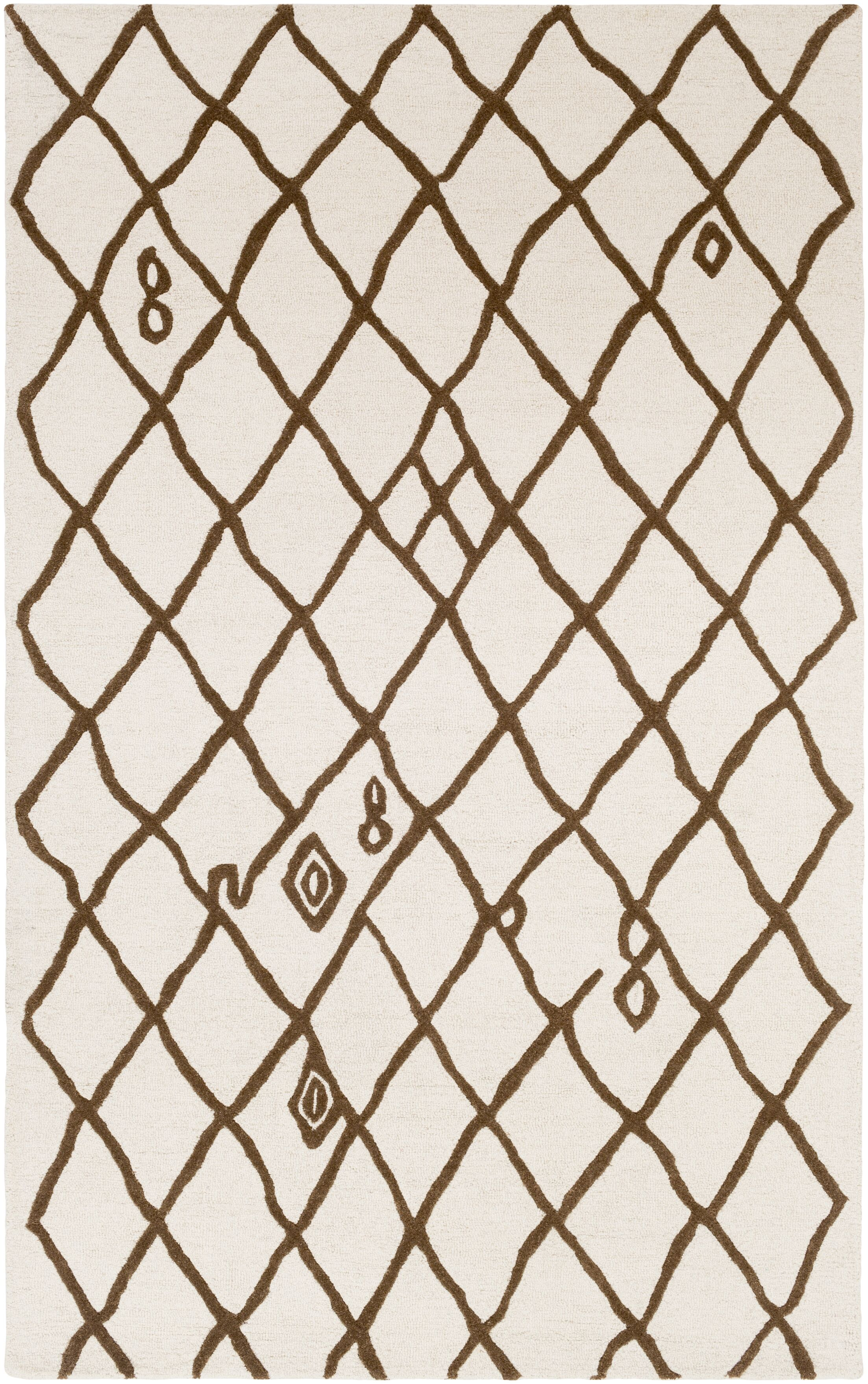 Juergens Hand-Tufted Ivory Area Rug Rug Size: Rectangle 5' x 8'