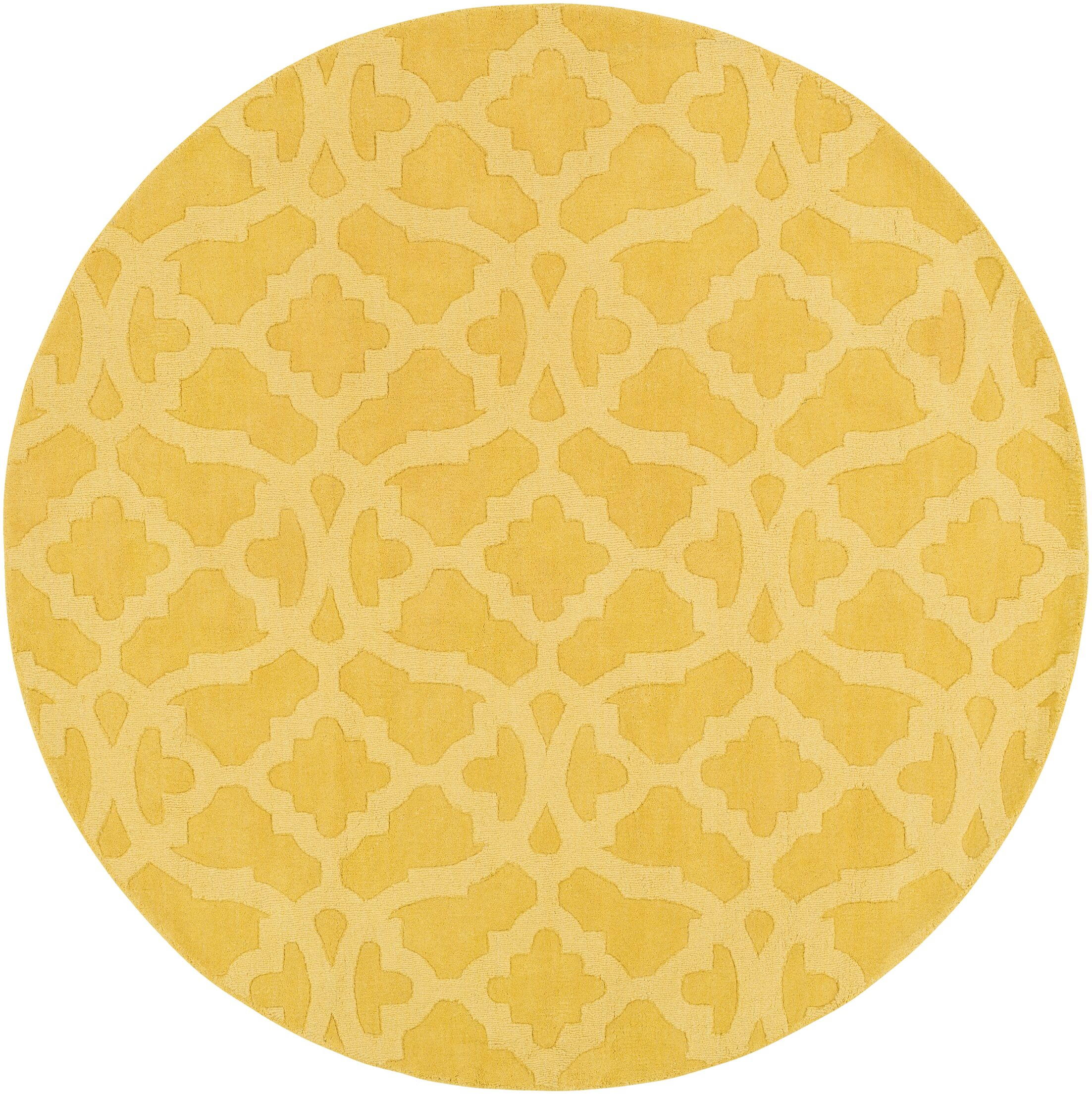 Dylan Hand-Woven Yellow Area Rug Rug Size: Round 6'